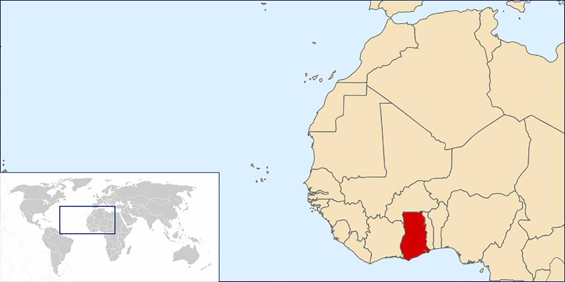 Artwork showing a map of Takoradi Ghana 0A