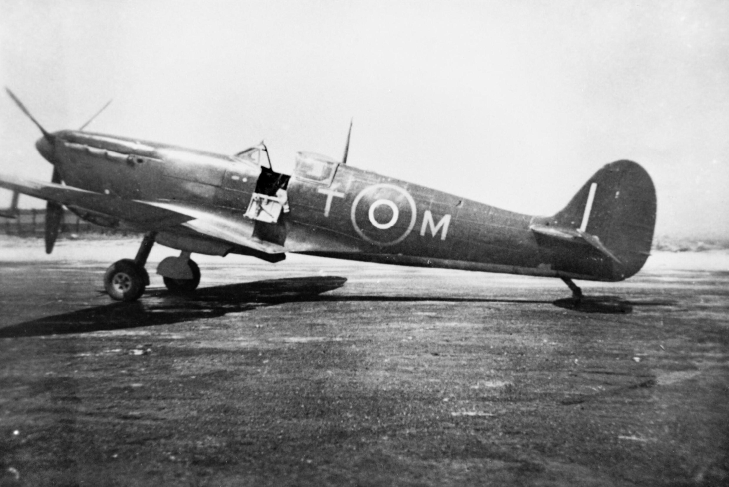 Spitfire MkVb RAF 249Sqn TM at Krendi Malta IWM HU72343