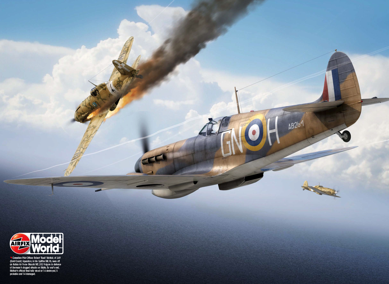 Spitfire MkVbTrop RAF 249Sqn GNH Robert McNair AB264 Malta 1942 Airfix Model World 45 2014 08 Page 050