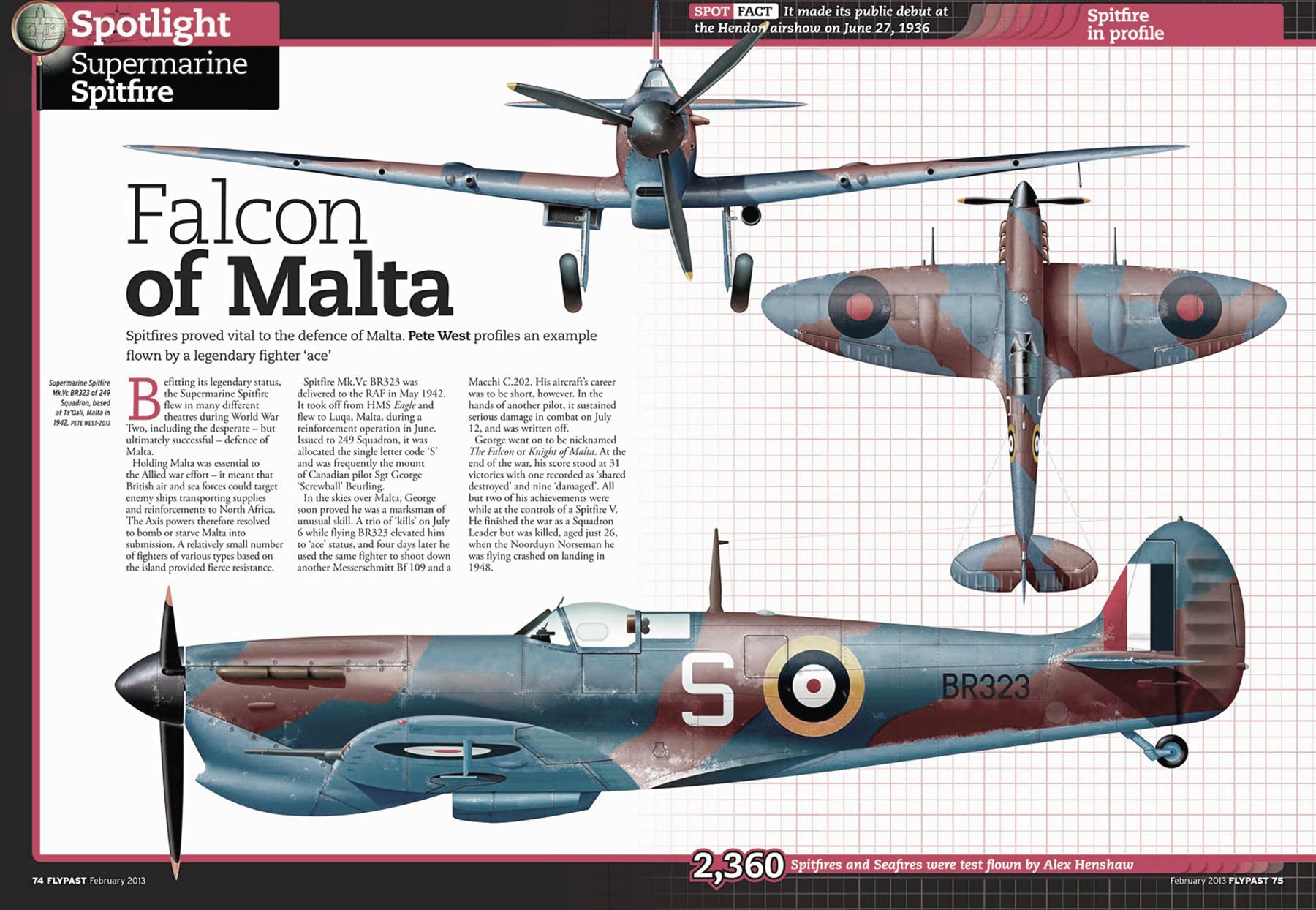 Spitfire MkVcTrop RAF 249Sqn S George Beurling BR323 Ta Qali Malta 1942 0A