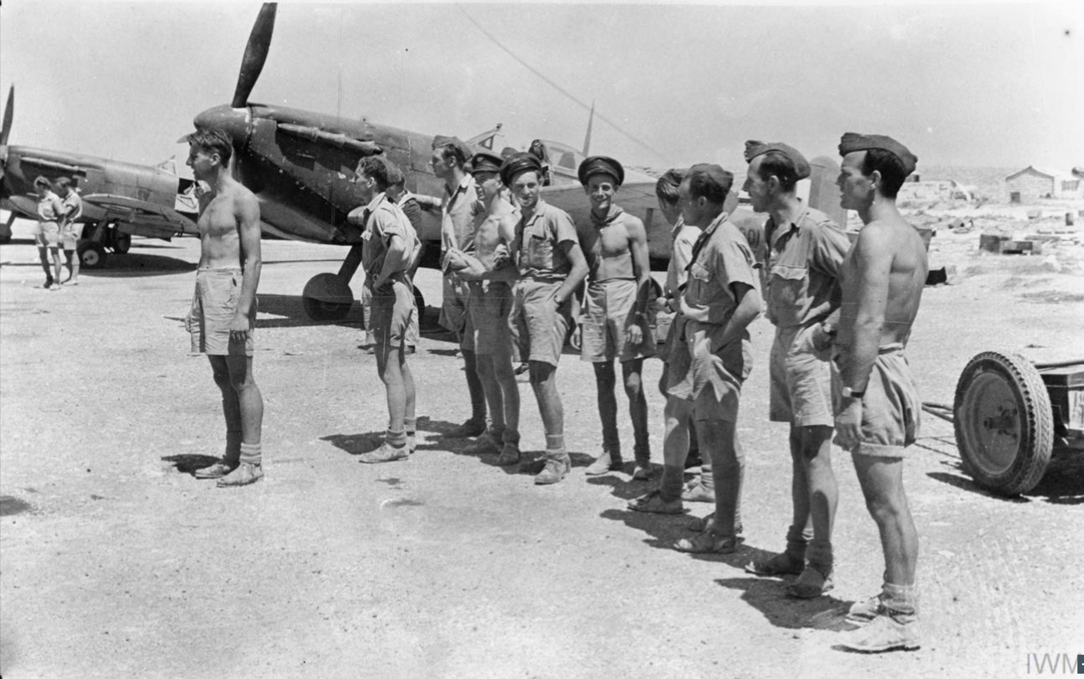 Spitfire MkVcTrop RAF 249Sqn at Ta Kali Malta IWM CM3215