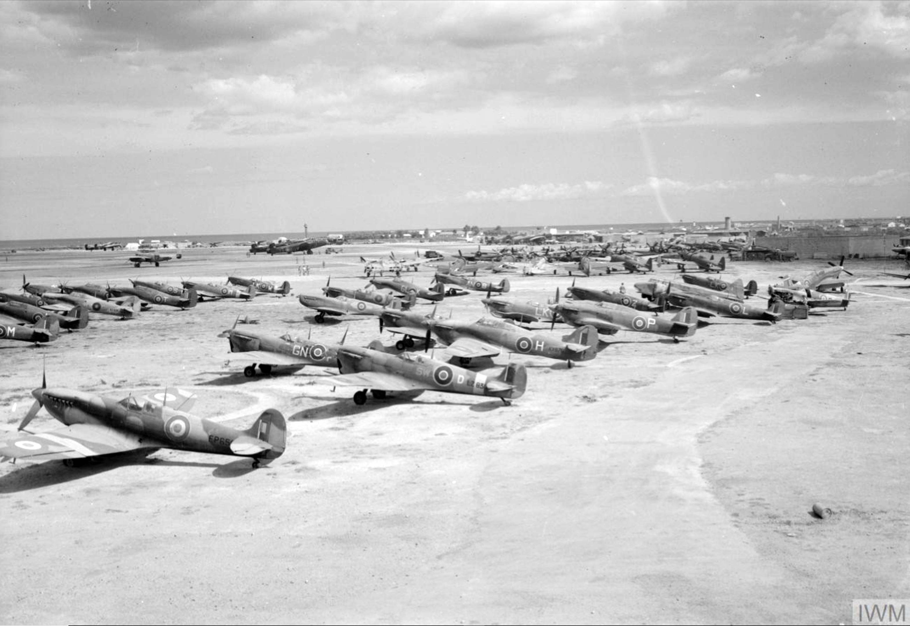 Spitfires at RAF 110 Maintenance Unit Brindisi Italy 1943 IWM CNA3285