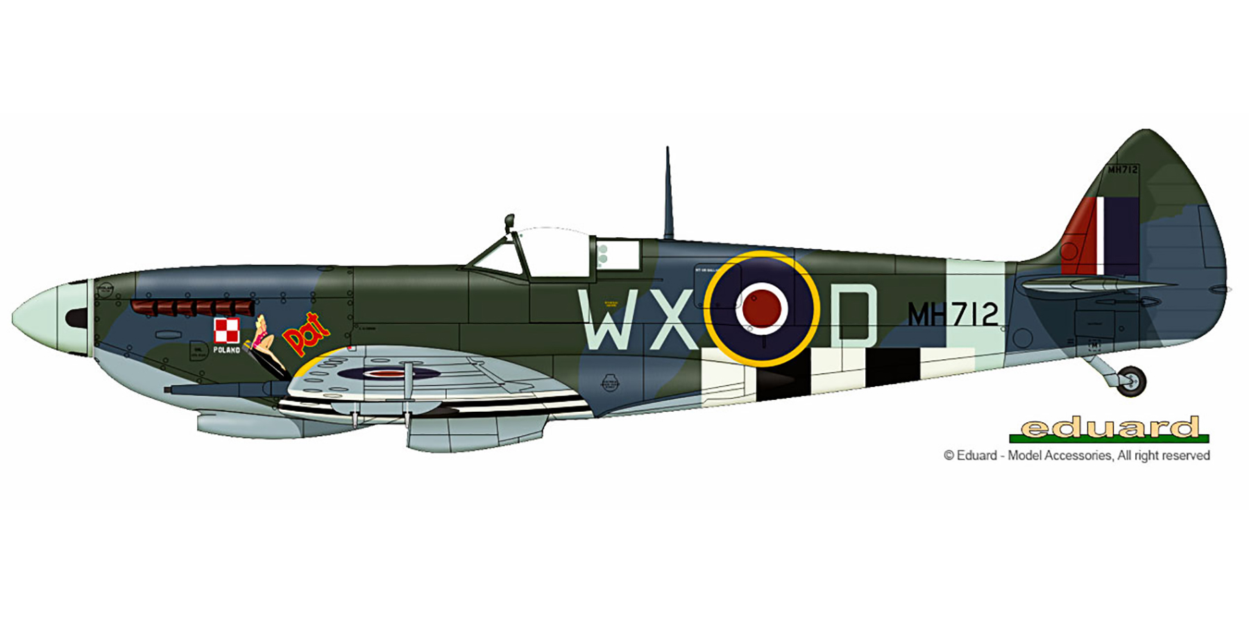 Spitfire MkIXc RAF 302Sqn WXD MH712 England June 1944 V0A
