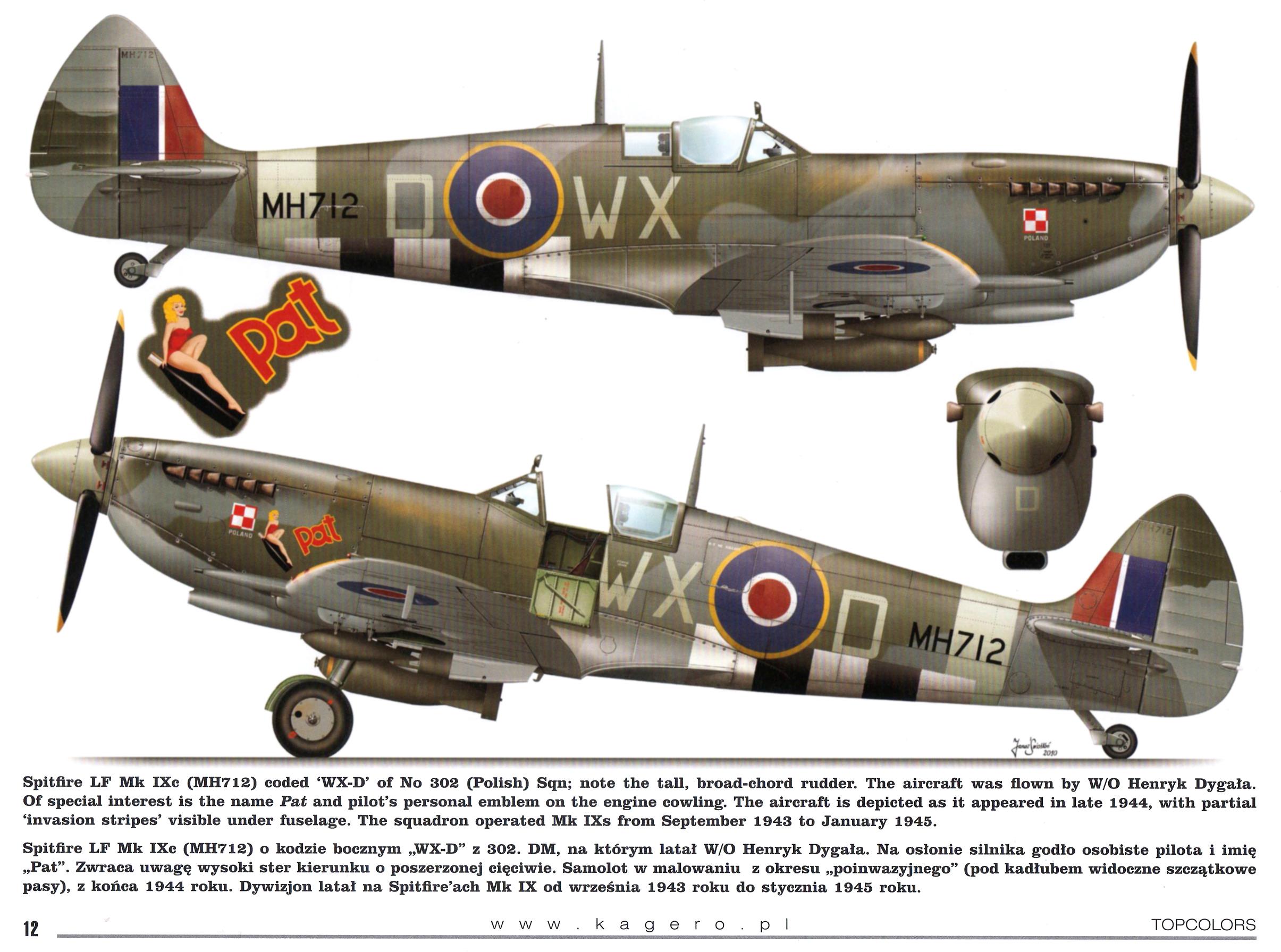 Spitfire MkIXc RAF 302Sqn WXD MH712 TC15015 Supermarine Spitfire MkIX Page 12