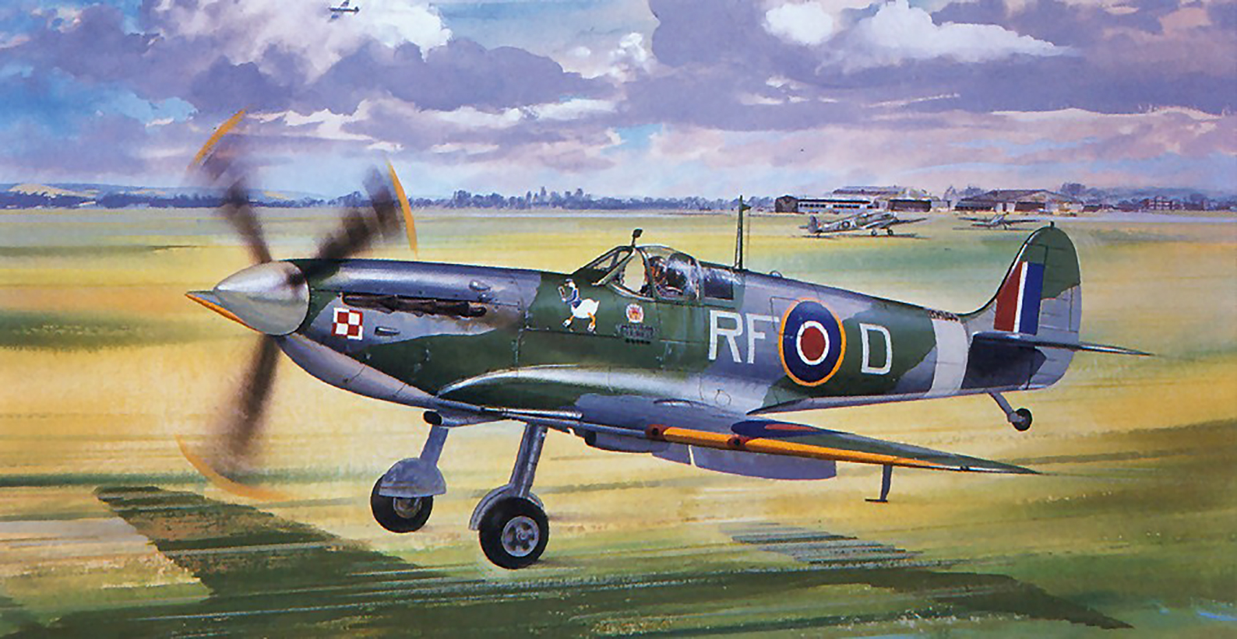Art Roy Cross RAF 303Sqn RF D Jan Zumbach Kirton in Lindsey 1942 0A