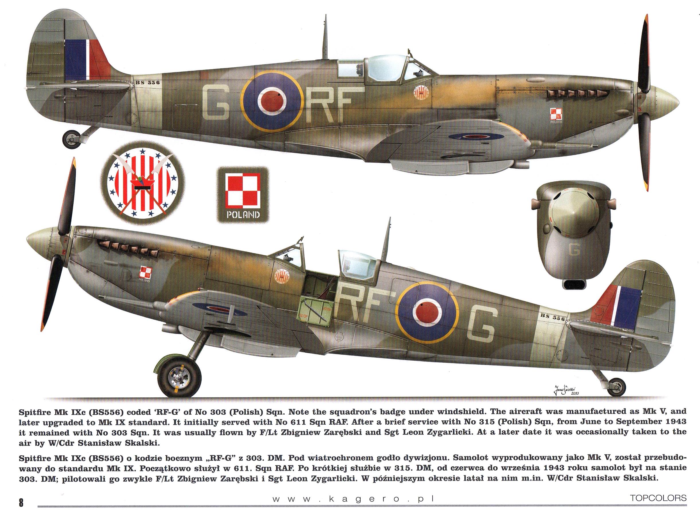 Spitfire MkIXc RAF 303 Polish RFG BS556 TC15015 Supermarine Spitfire MkIX Page 08