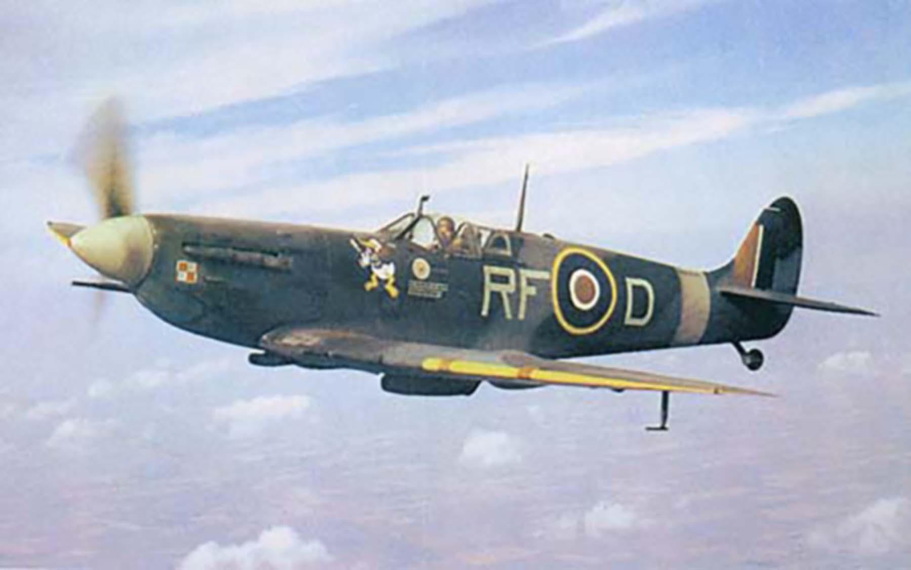 Spitfire MkVb RAF 303 Polish RFD Jan Zumbach EN951 Kirton in Lindsey 1942 01
