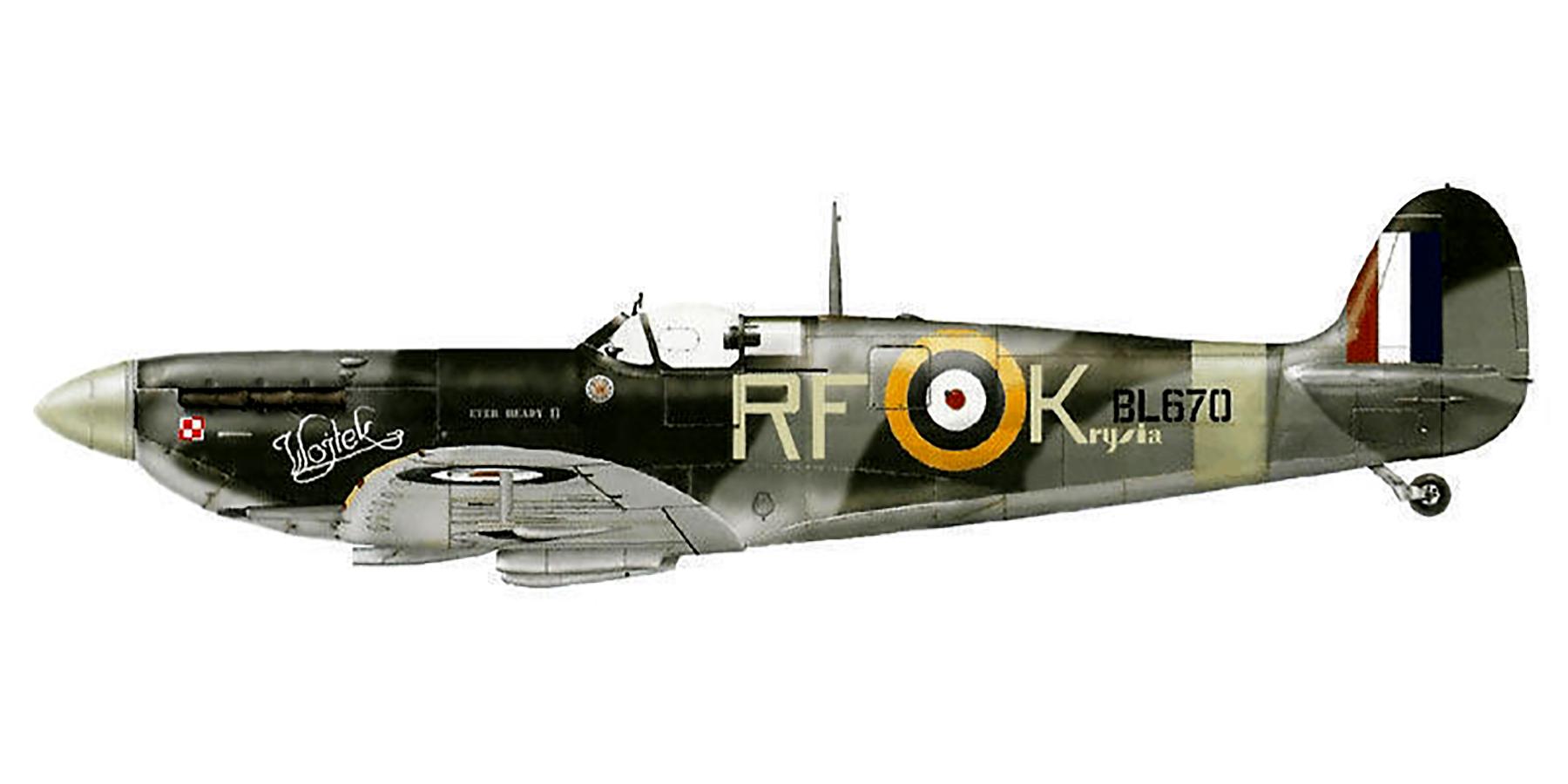 Spitfire MkVb RAF 303 Polish RFK Kolacskowski BL670 Northolt 1942 0A