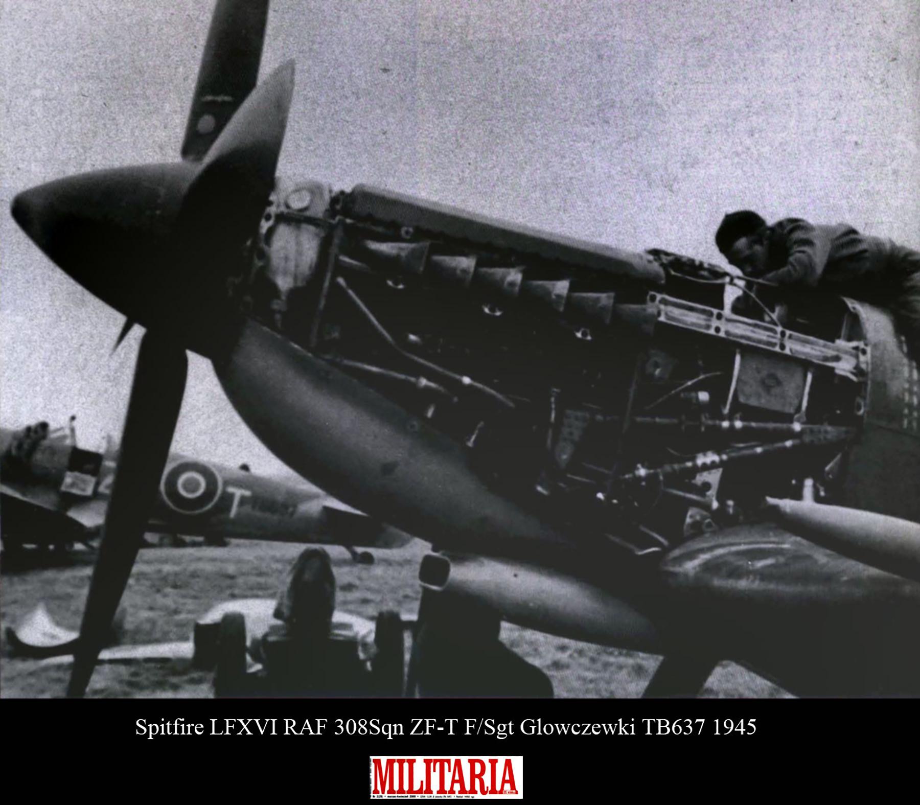 Spitfire LFXVI RAF 308Sqn ZFT F.Sgt Glowczewki TB637 1945