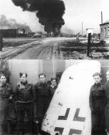 Asisbiz Aircrew RAF 308Sqn pilot Taddeusz Szlenkier with remains of his Fw 190 SD 1st Jan 1945 01