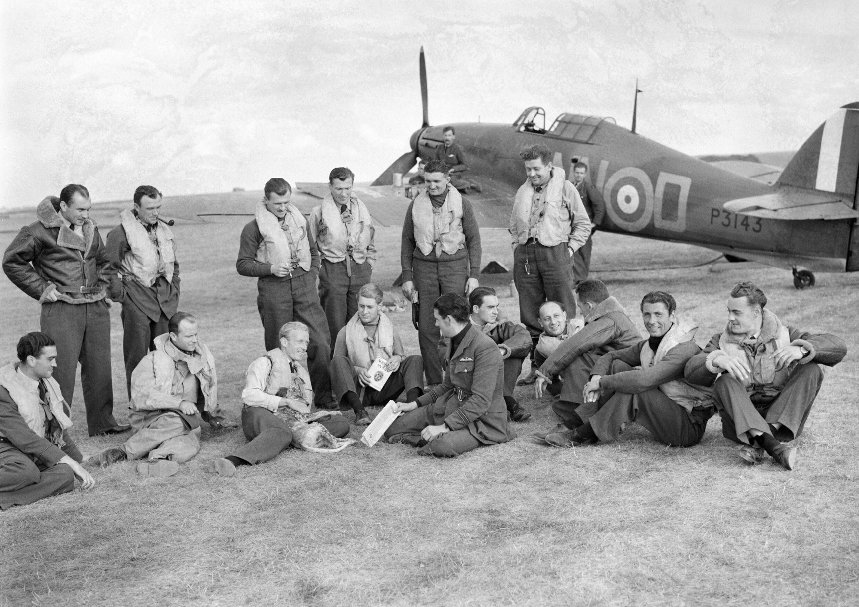 Hurricane MkI RAF 310Sqn NND P3143 Duxford 7 Sep 1940 IWM CH1299