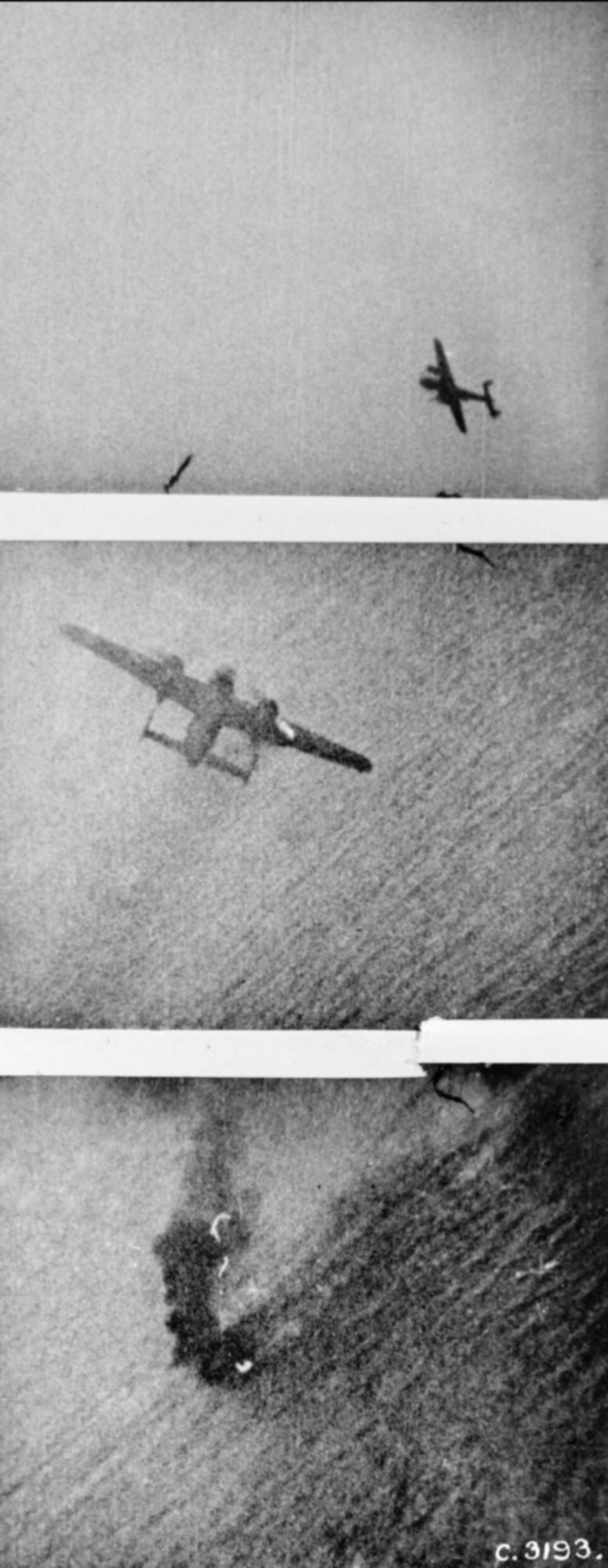 RAF 312Sqn Sgt M Liskutin shots down a Dornier Do 217 over the Channel Dieppe raid IWM C3193