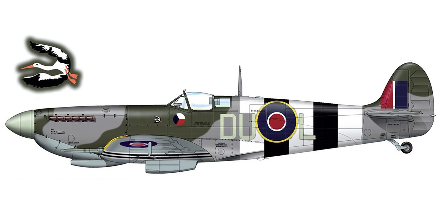 Spitfire LFIX RAF 312Sqn DUL MJ840 11th June 1944 0A