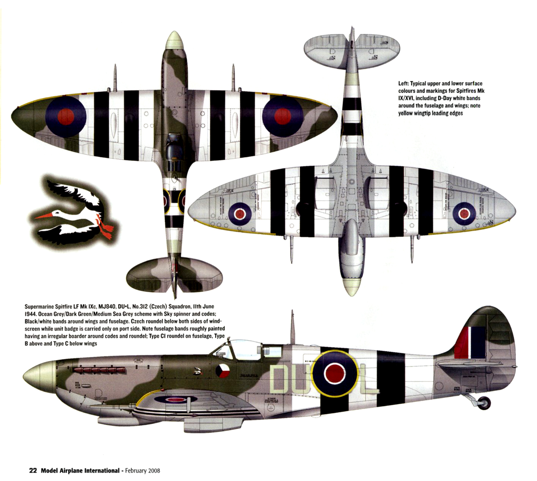 Spitfire LFIX RAF 312Sqn DUL MJ840 11th June 1944 0B