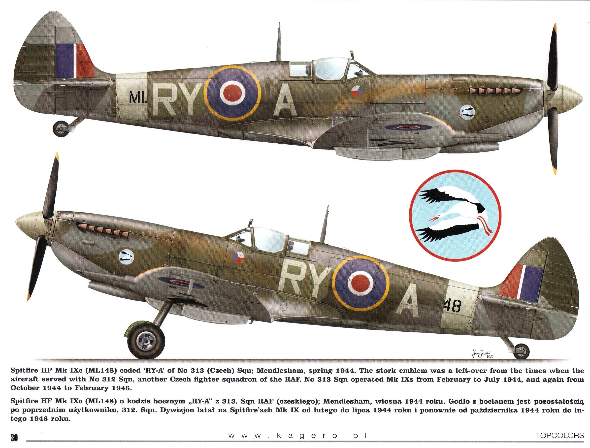 Spitfire HFIXc RAF 313Sqn Czech RYA ML148 TC15015 Supermarine Spitfire MkIX Page 26