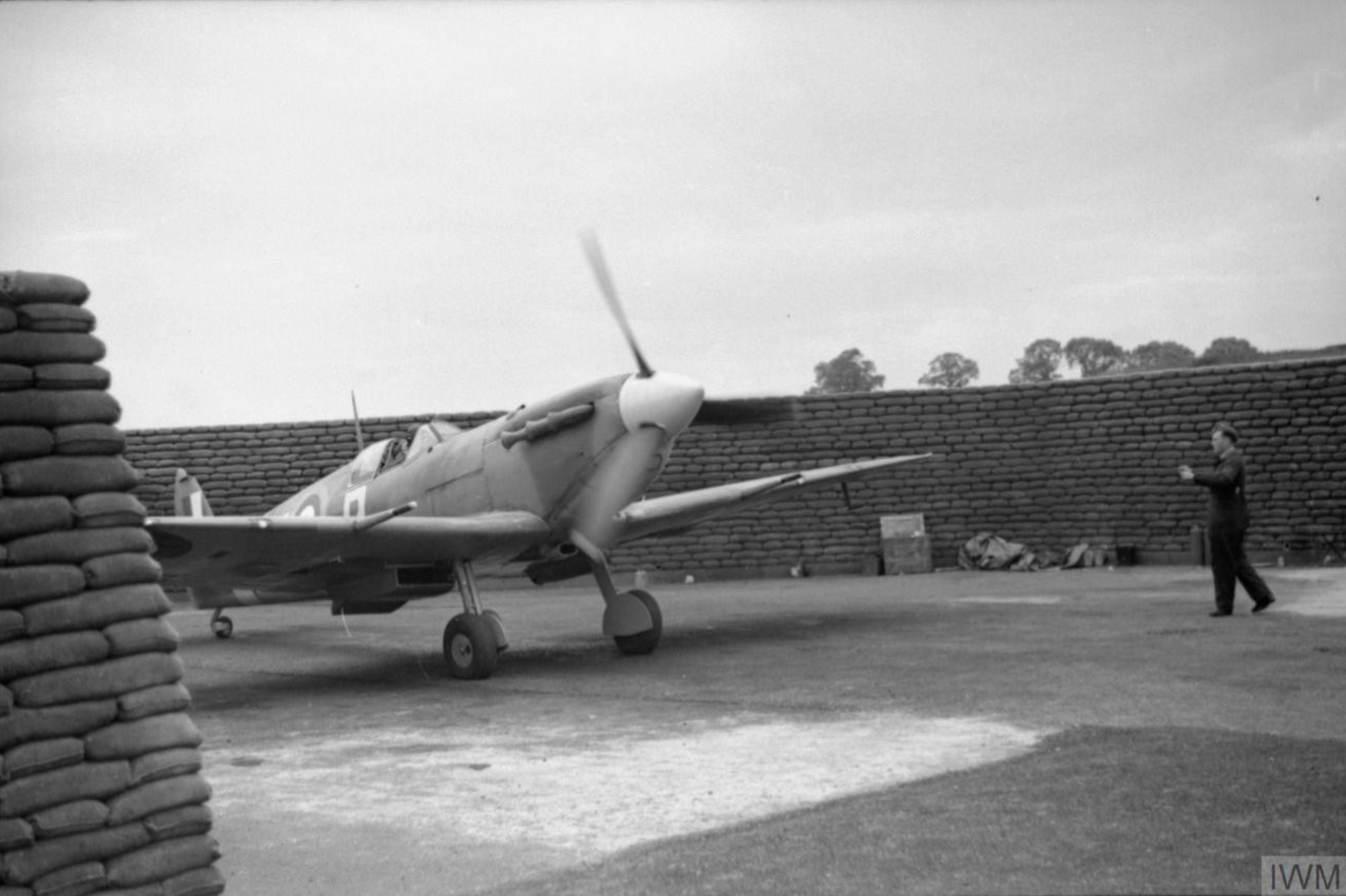 Spitfire MkVb RAF 313Sqn at Hornchurch Essex IWM CH5840