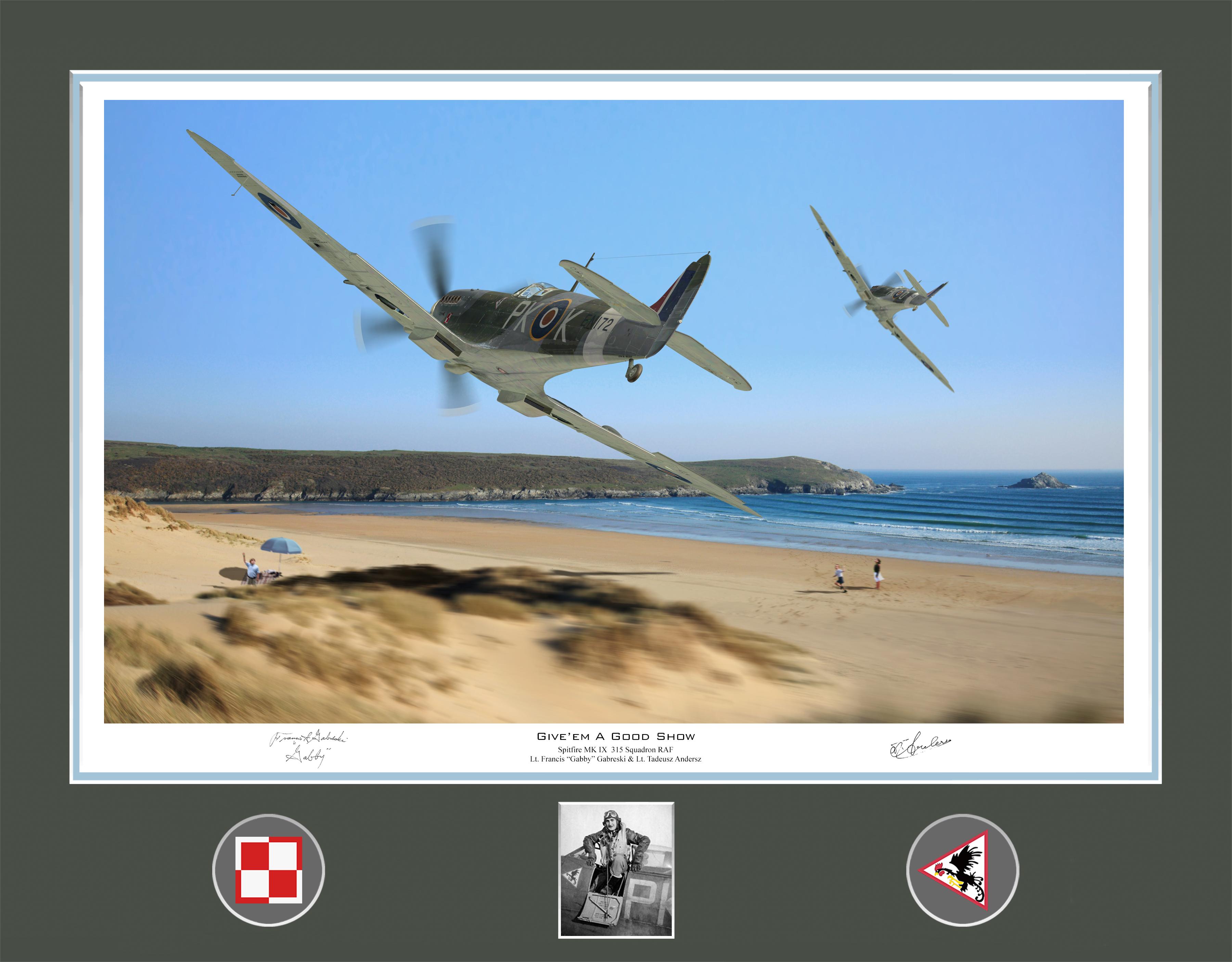 Spitfire MkIX RAF 315Sqn PKK and PKO give'em a good show 01