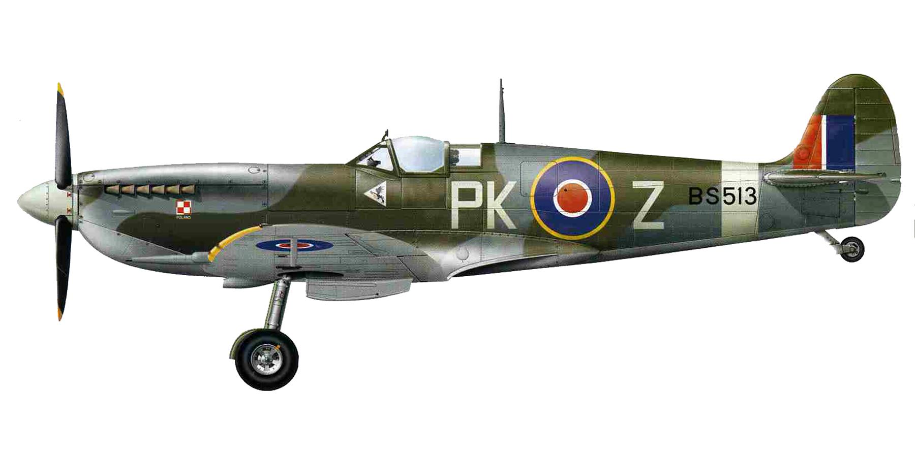 Spitfire MkIX RAF 315Sqn PKZ BS513 1943 0A
