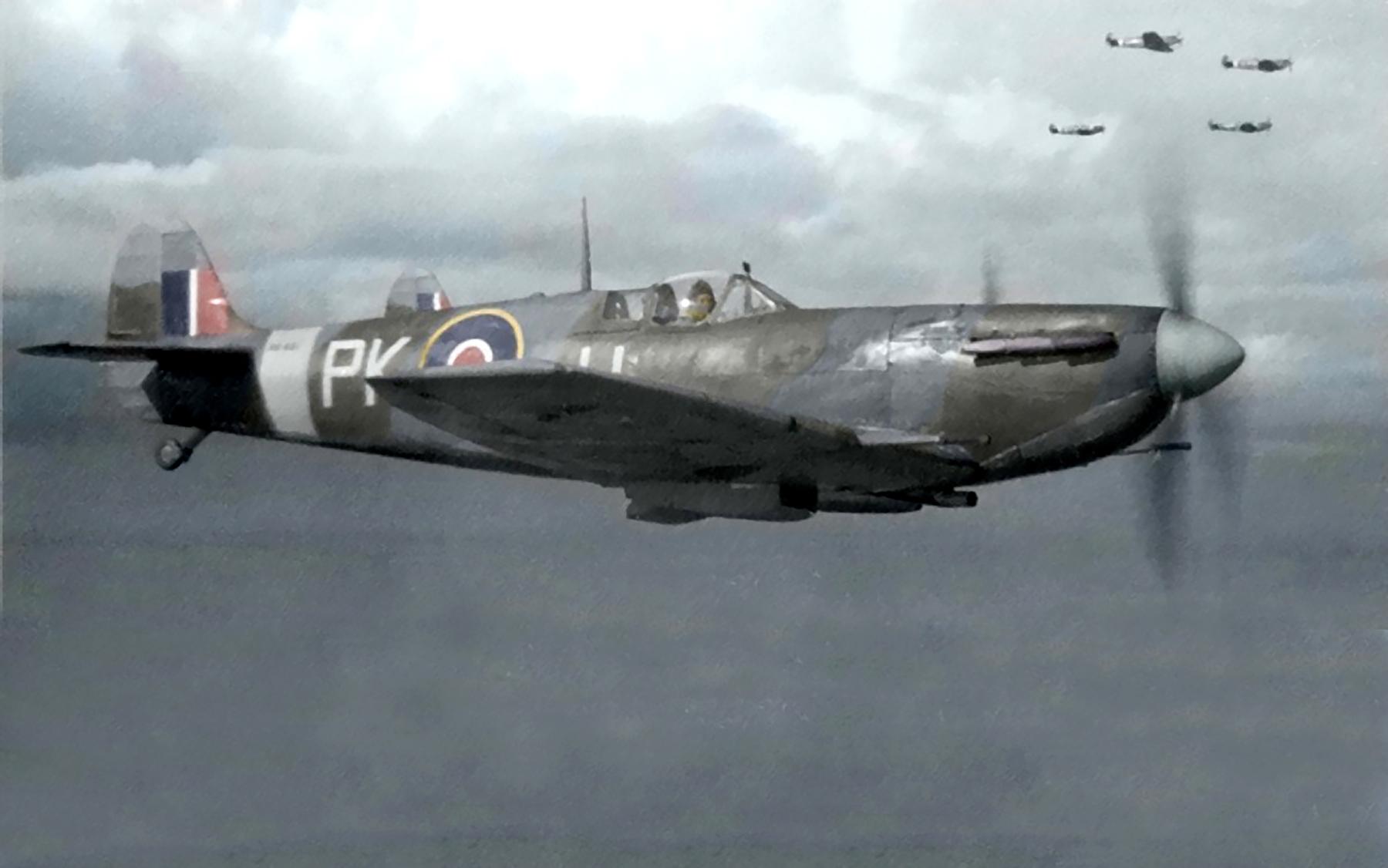 Spitfire MkVb RAF 315Sqn PKU over the channel 1943 01