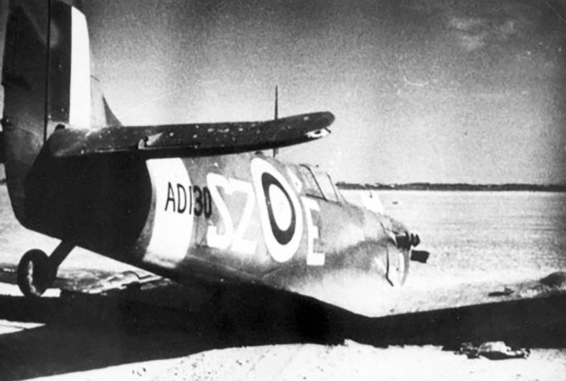 Spitfire MkV RAF 316Sqn SZE AD130 crash landed 01