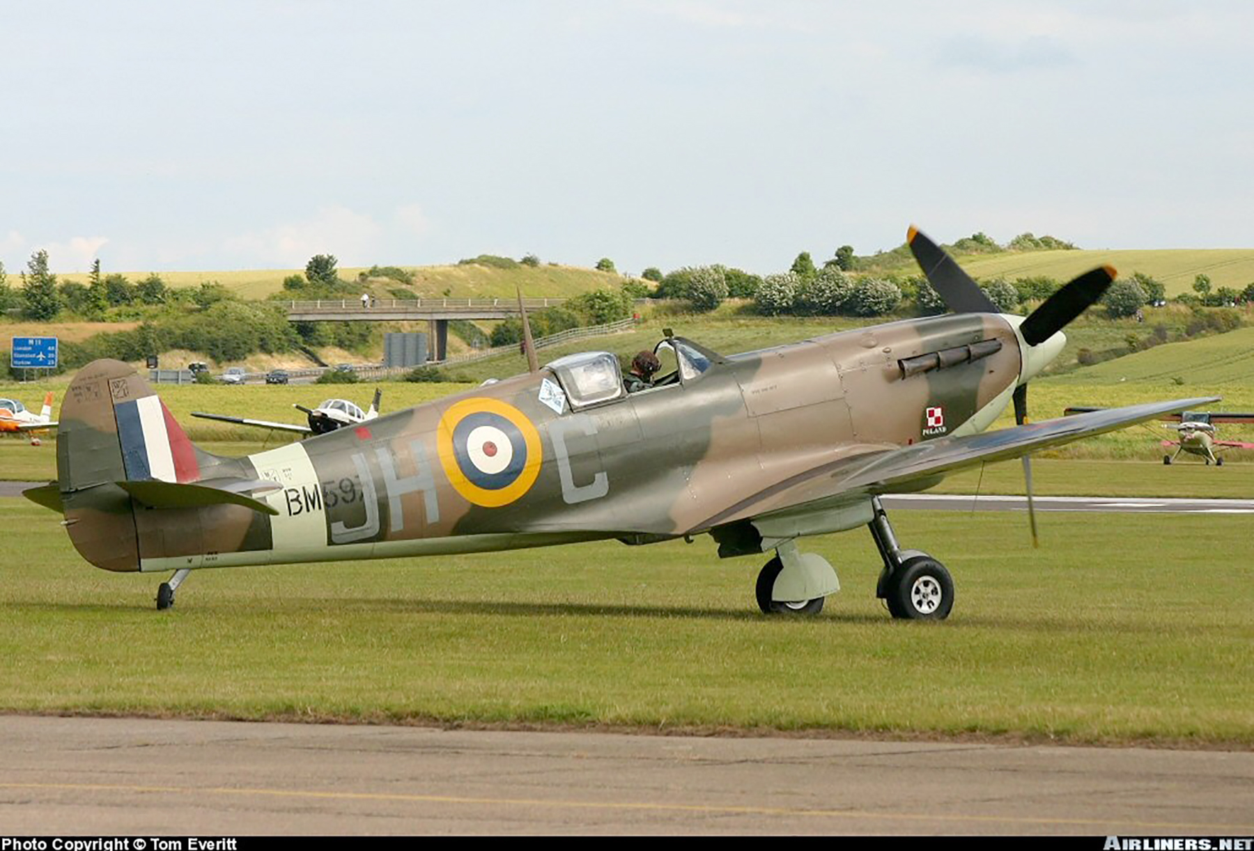 Airworthy Spitfire warbird MkVb RAF 317Sqn JHC BM597 G MKVB 04