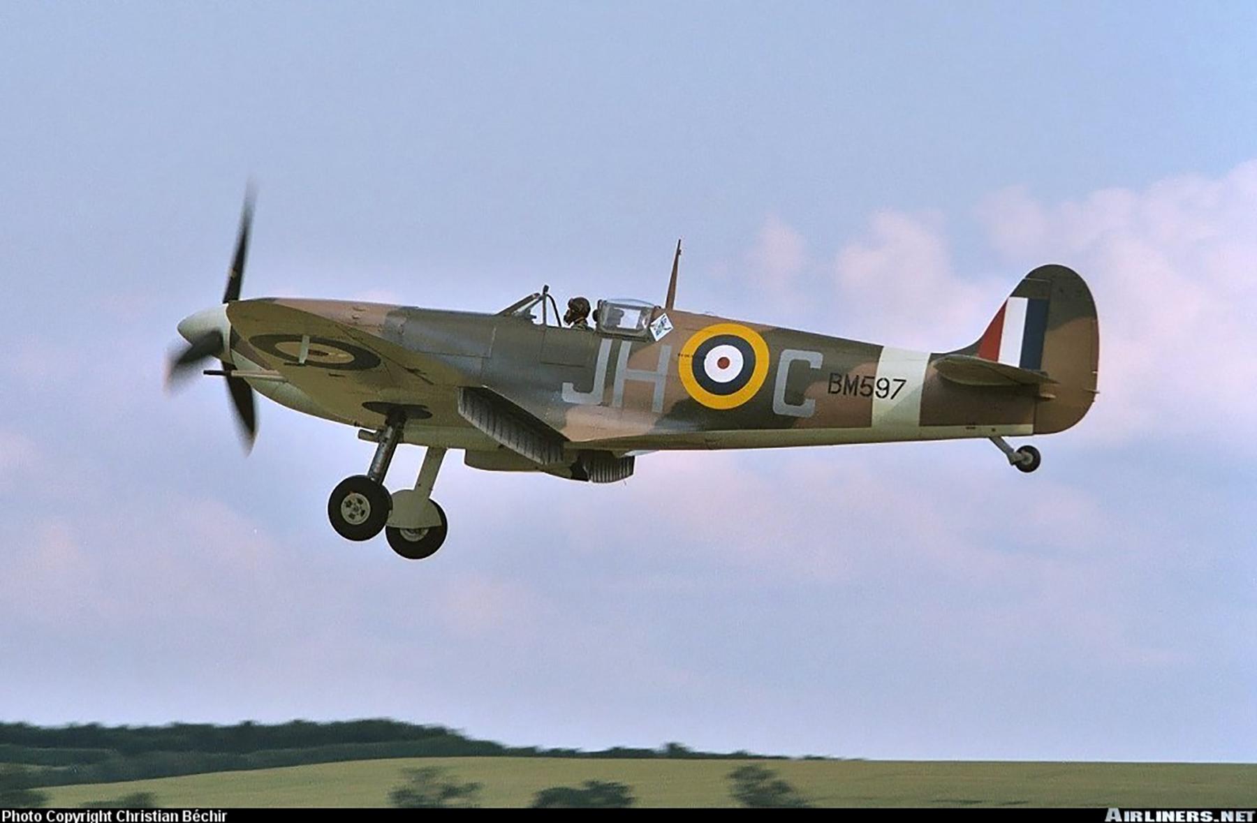 Airworthy Spitfire warbird MkVb RAF 317Sqn JHC BM597 G MKVB 11