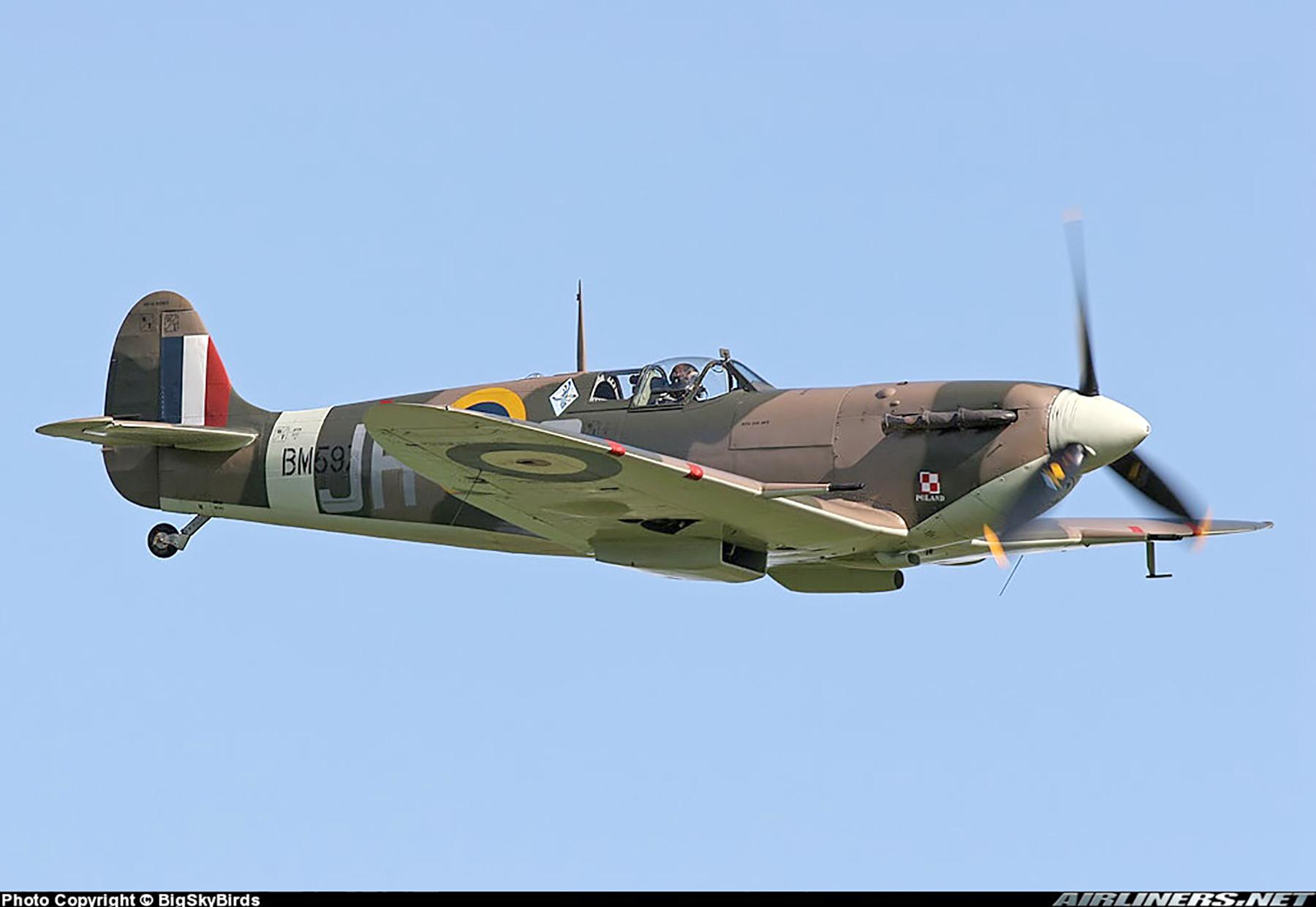 Airworthy Spitfire warbird MkVb RAF 317Sqn JHC BM597 G MKVB 15