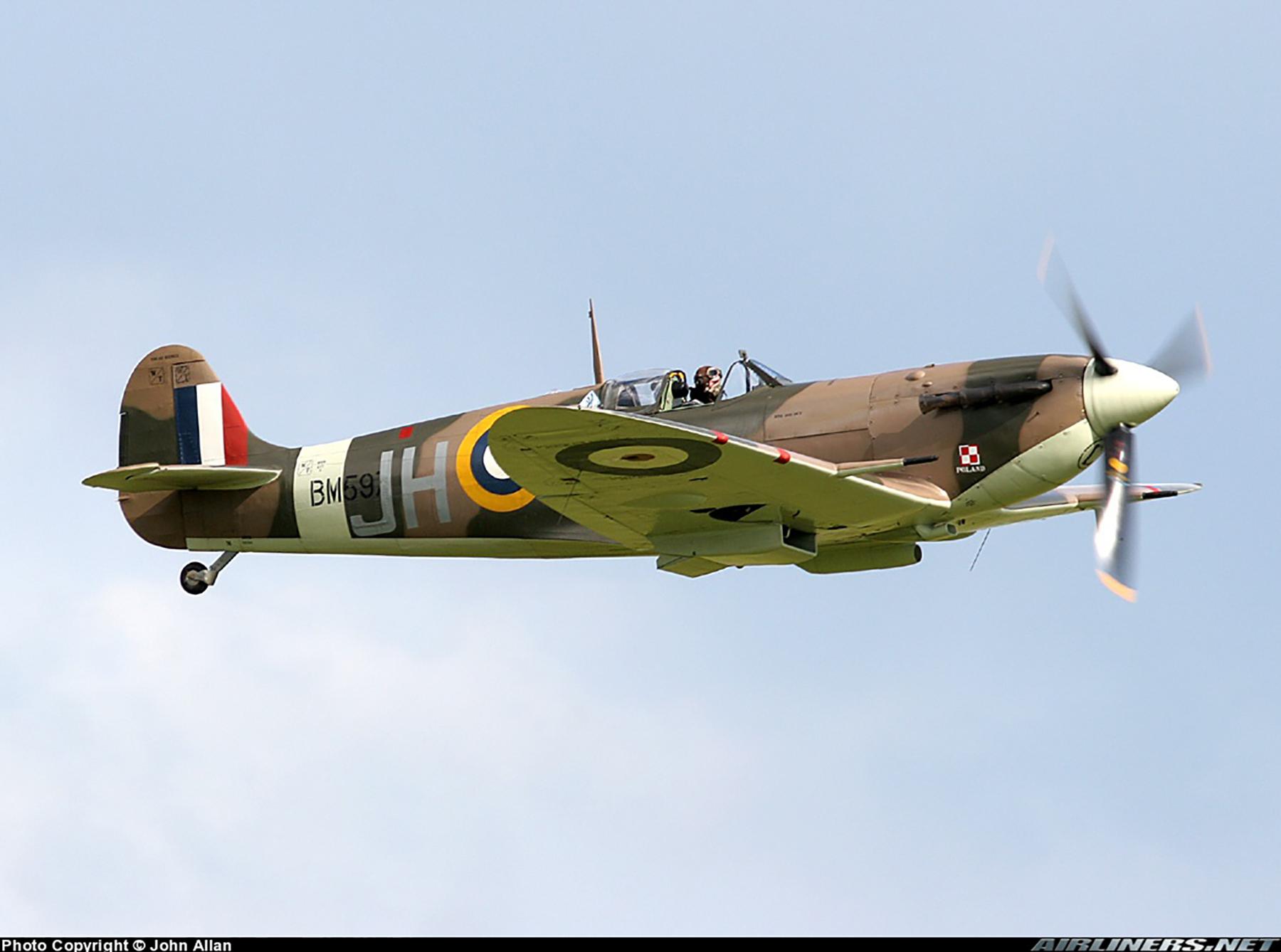 Airworthy Spitfire warbird MkVb RAF 317Sqn JHC BM597 G MKVB 17