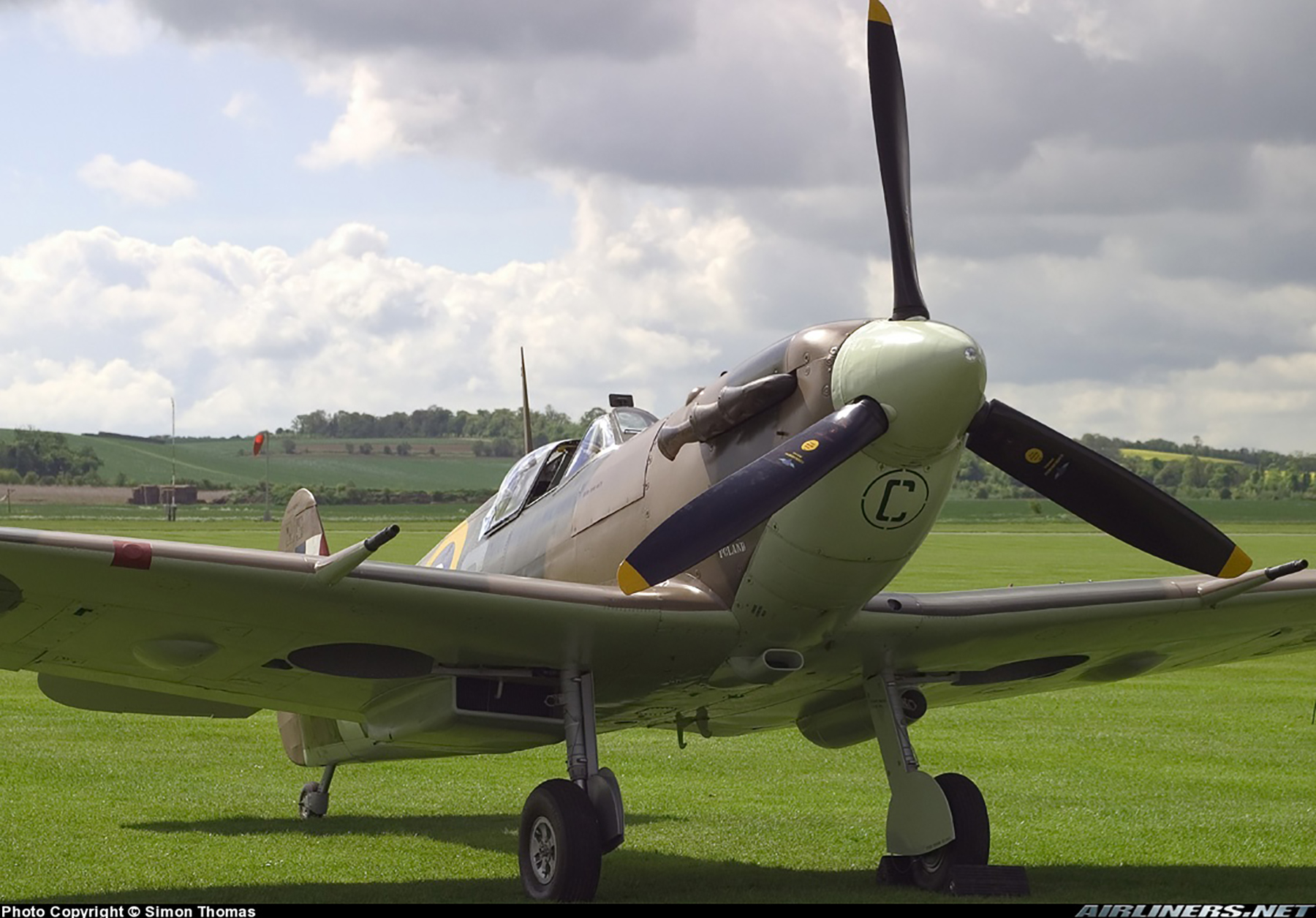 Airworthy Spitfire warbird MkVb RAF 317Sqn JHC BM597 G MKVB 22