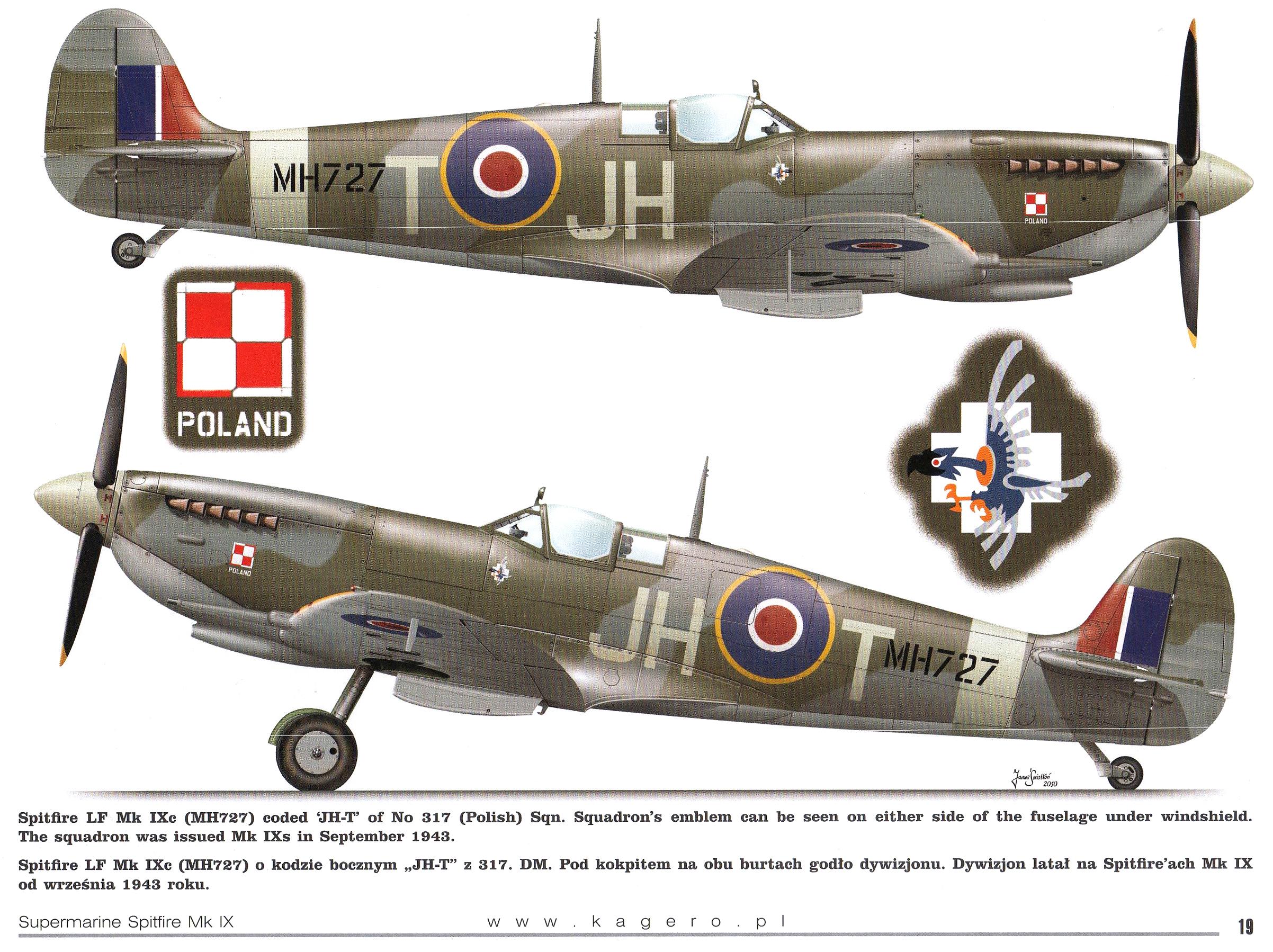 Spitfire LFIXc RAF 317Sqn JHT MH727 TC15015 Supermarine Spitfire MkIX Page 19