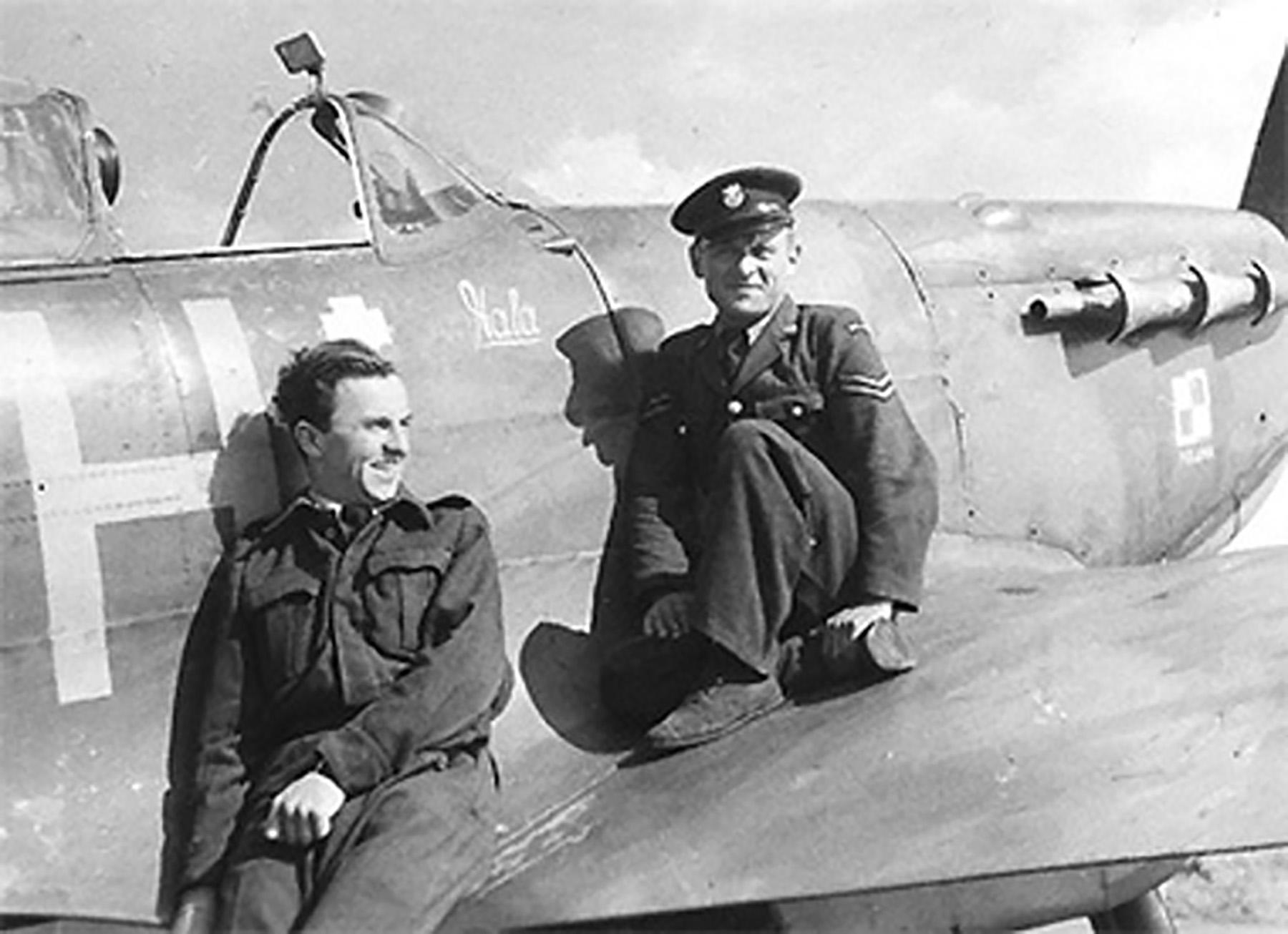 Spitfire MkVb RAF 317Sqn JHH PO Bochniak AD140 Northolt 01