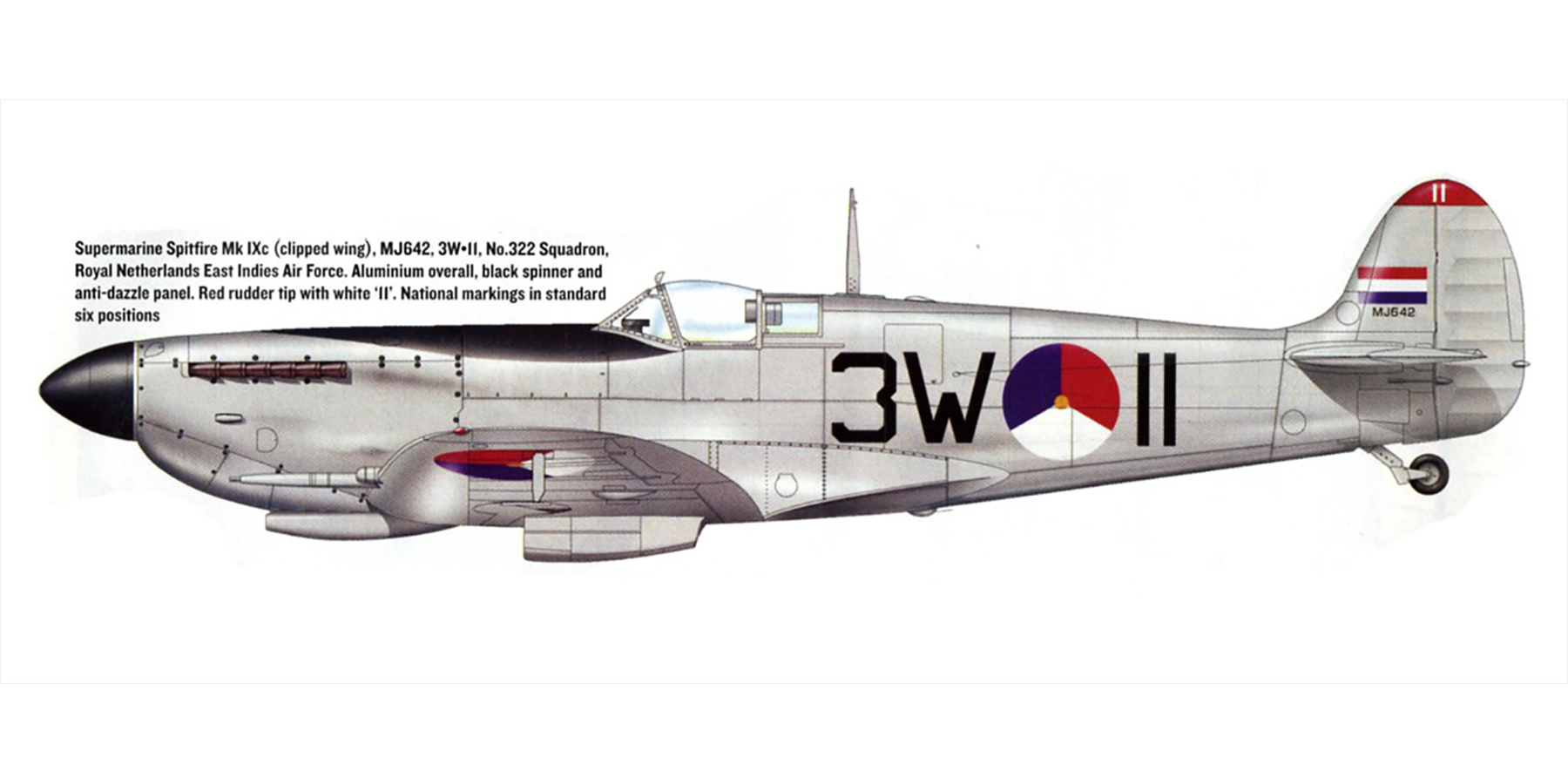 Spitfire LFIXc RAF 322Sqn 3WII MJ642 RNEIAF Holland 0A