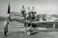 Asisbiz Aircrew and members of 322 Squadron with a Spitfire 01