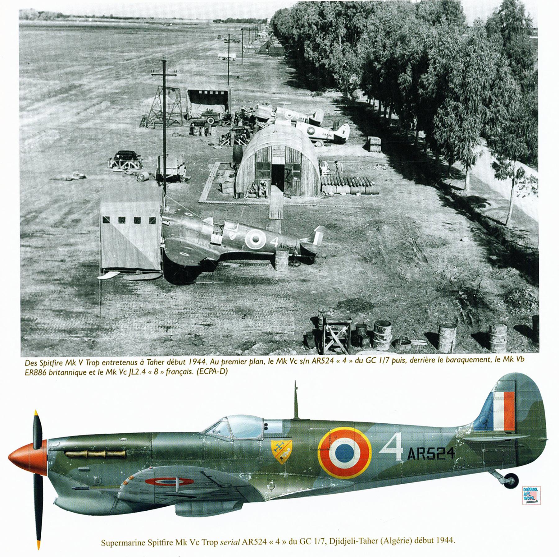 Spitfire MkVcTrop GC1.7 White 4 AR524 Djidjeli Taher Algeria 1944 01