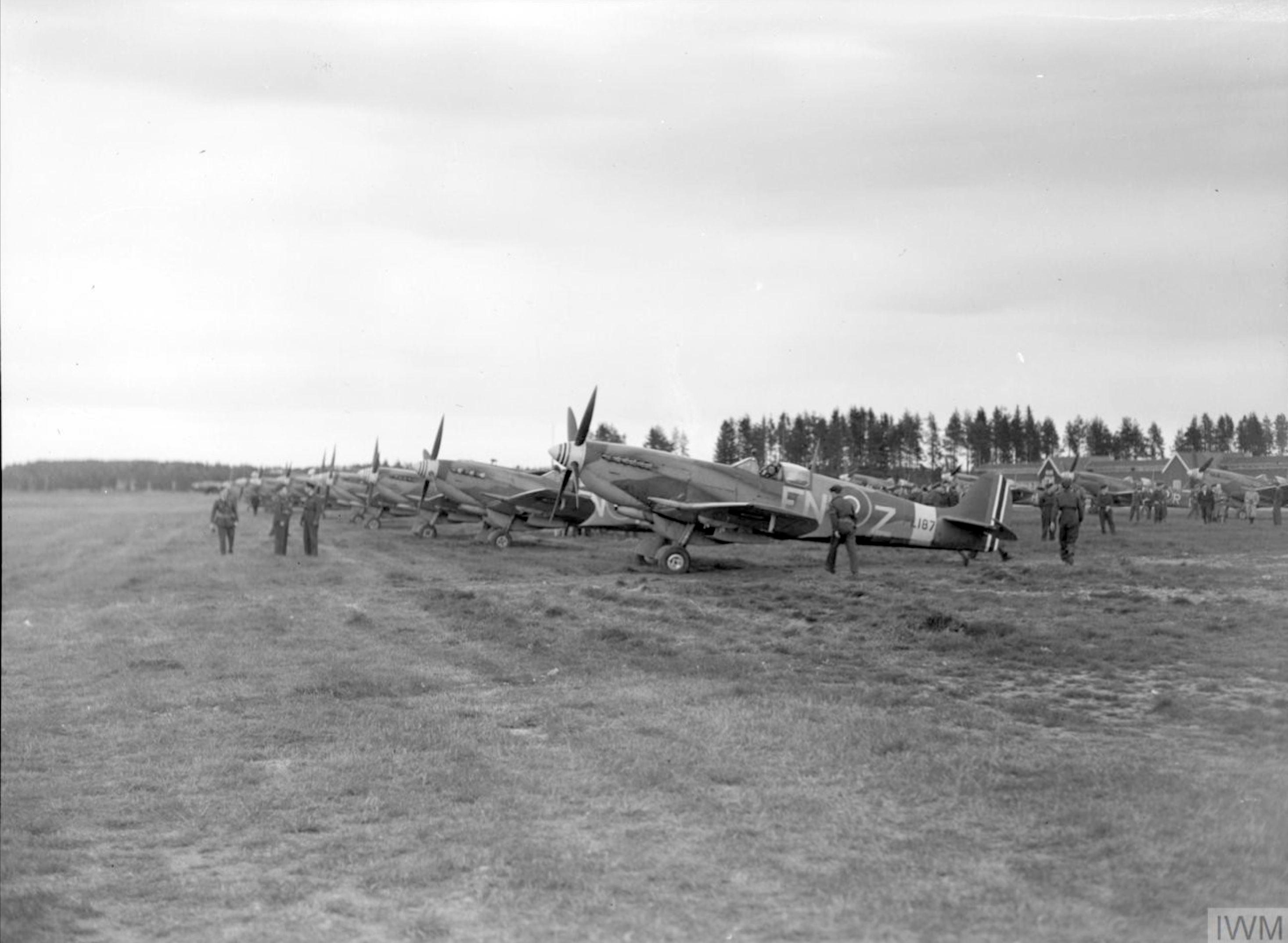 Spitfire MkIXe RAF 331Sqn FNZ PL187 at Gardermoen nr Oslo IWM CL2819