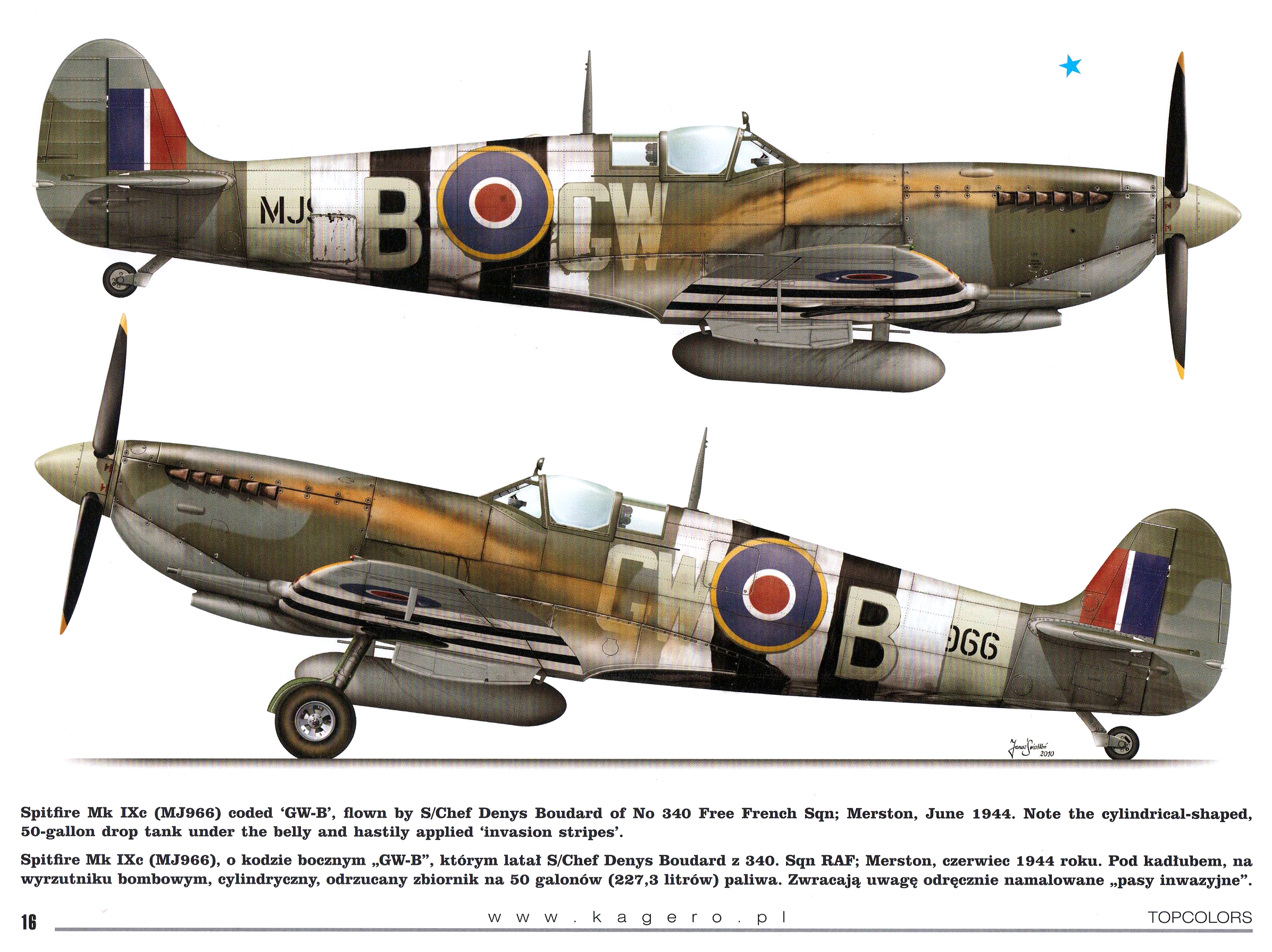 Spitfire MkIXc RAF 340Sqn GWB Denys Boudard MJ966 TC15015 Supermarine Spitfire MkIX Page 16
