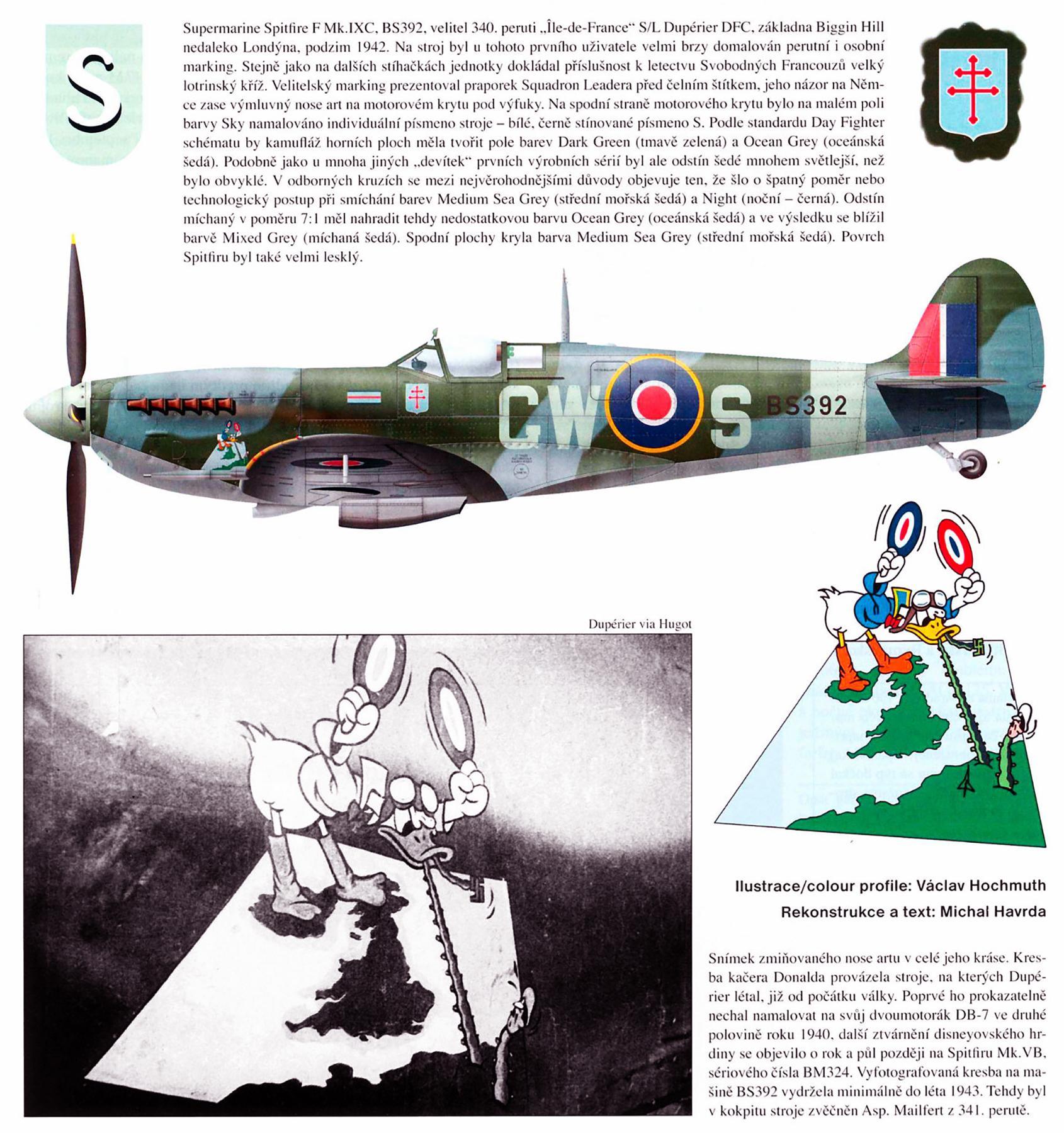 Spitfire MkIXc RAF 340Sqn GWS Bernard Duperier BM324 England 1942 0A