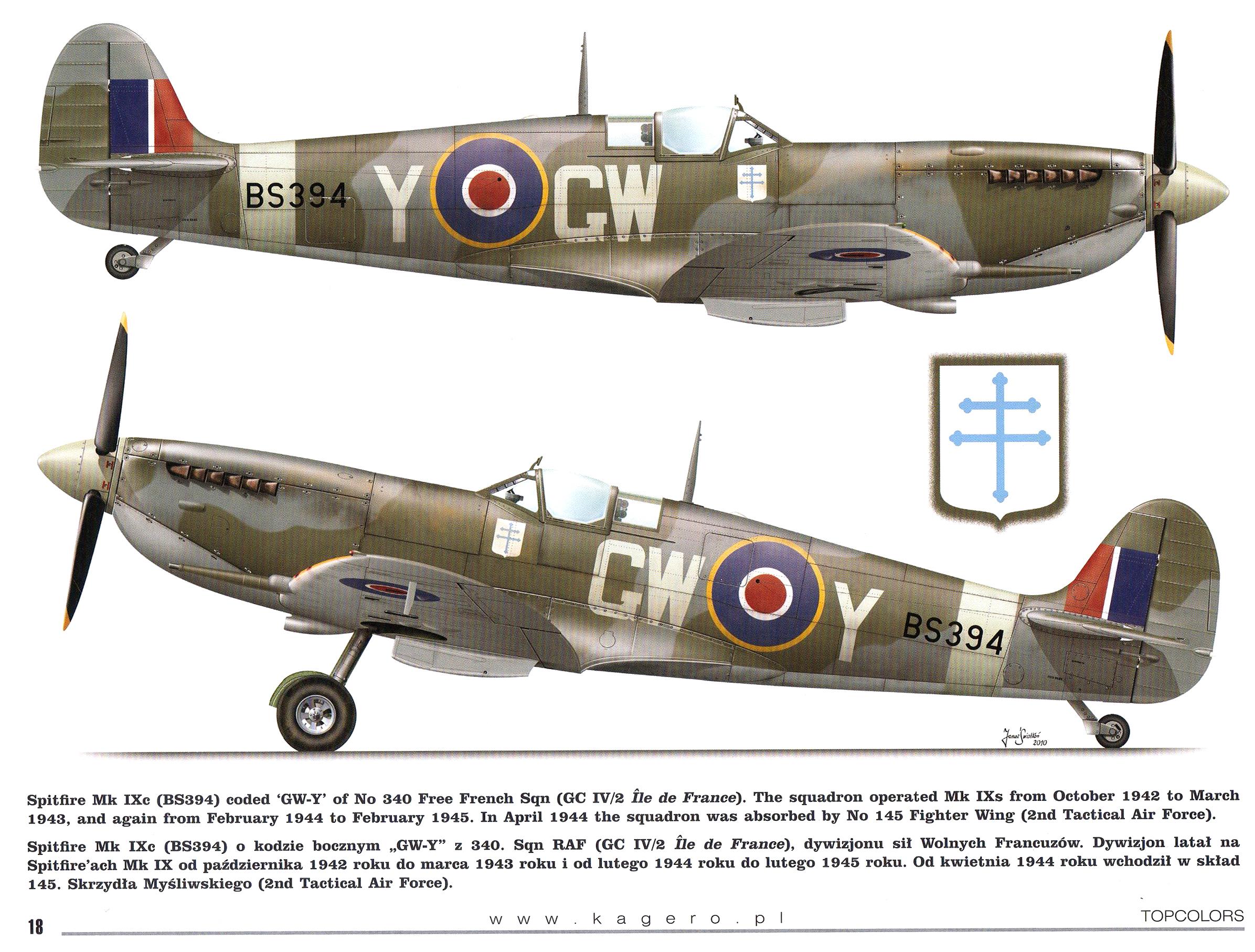 Spitfire MkIXc RAF 340Sqn GWY BS394 TC15015 Supermarine Spitfire MkIX Page 18