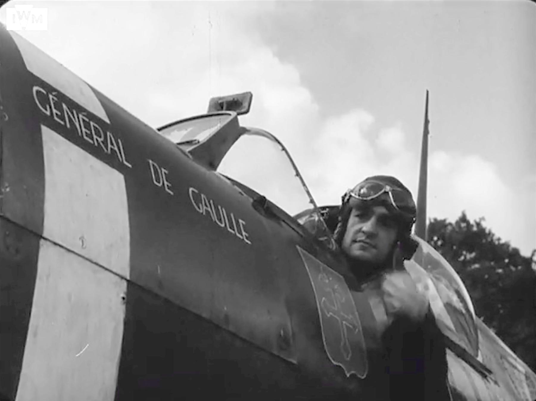 Spitfire MkVb RAF 340Sqn GWY Marcel Albert Westhampnett Chichester 6th July 1942 IWM 01