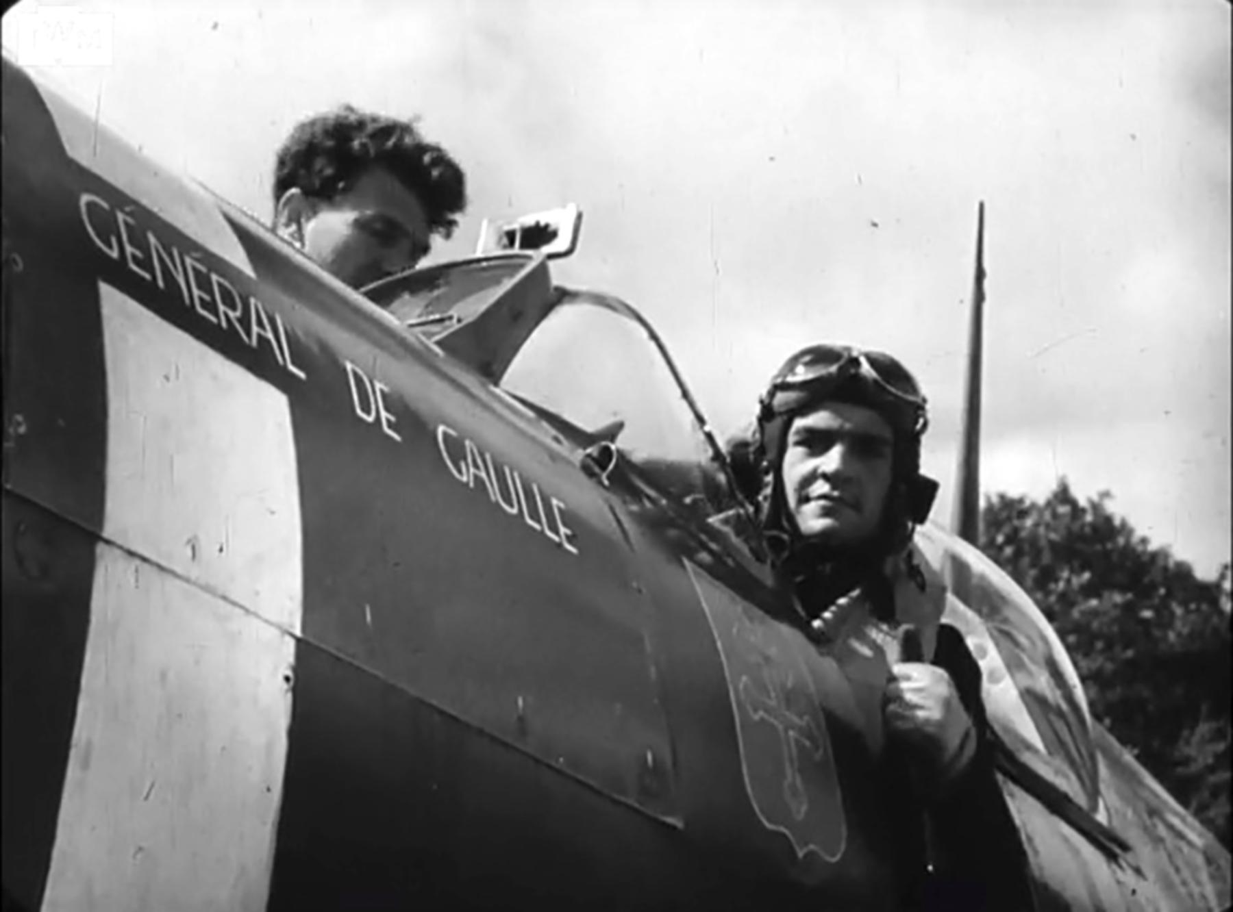 Spitfire MkVb RAF 340Sqn GWY Marcel Albert Westhampnett Chichester 6th July 1942 IWM 02