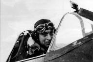 Asisbiz Aircrew RAF 340Sqn pilot Bernard Duperier French sits in his Spitfire GWS 1942 01