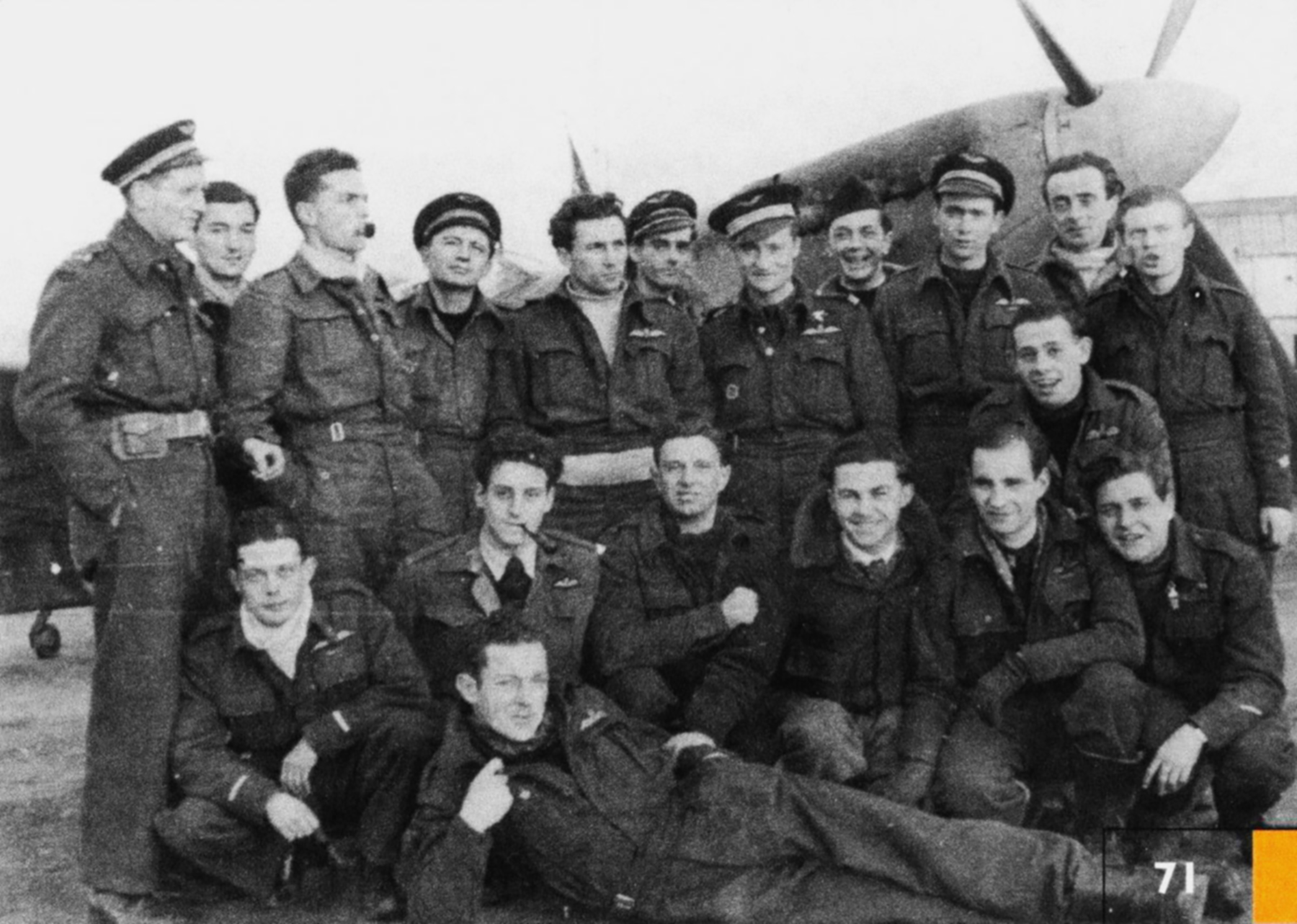 Aircrew RAF 341Sqn group photo with George Lents Nov 1944 01