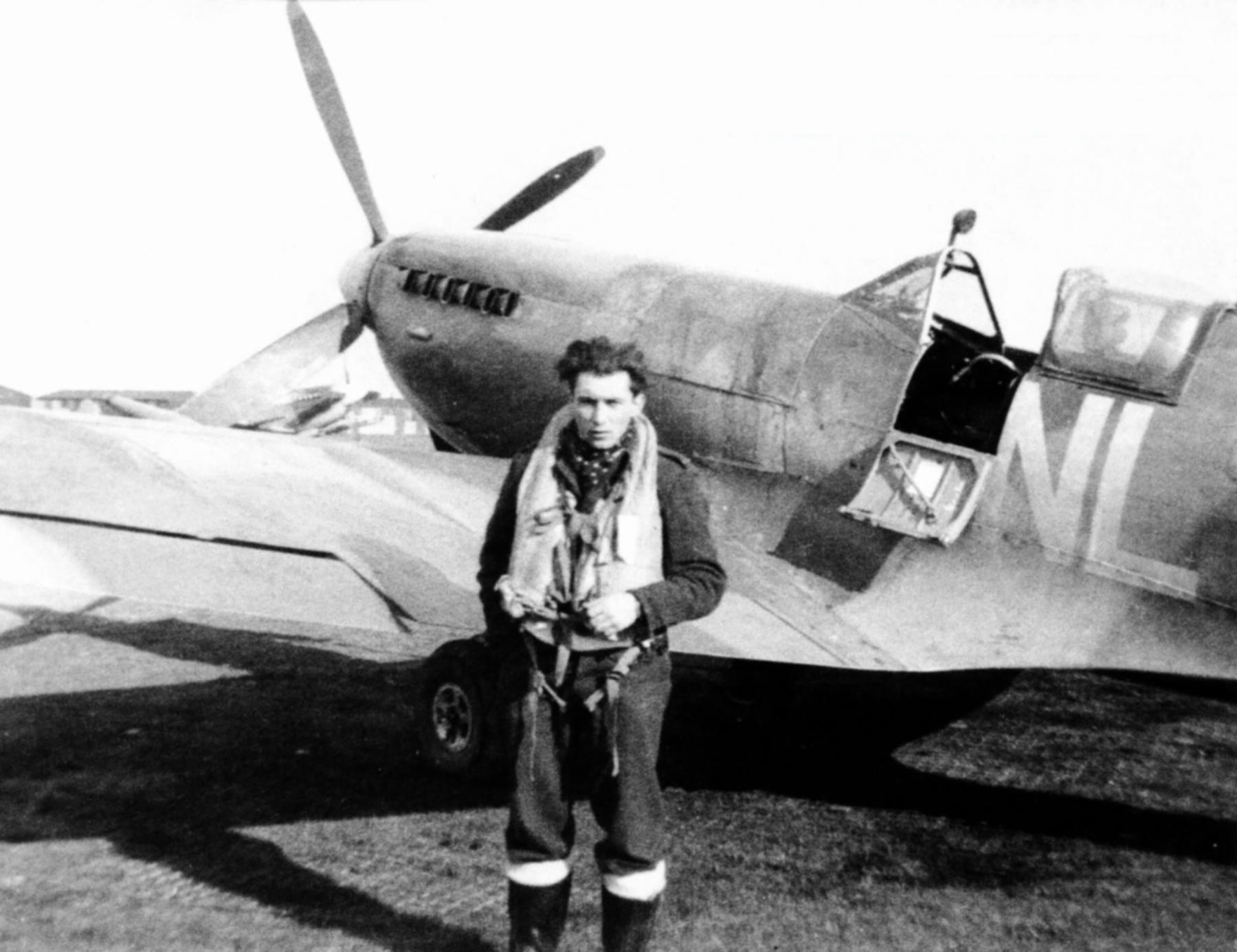 Spitfire LFIX RAF 341Sqn NLN George Lents Merston Chichester Sussex June 1944 01