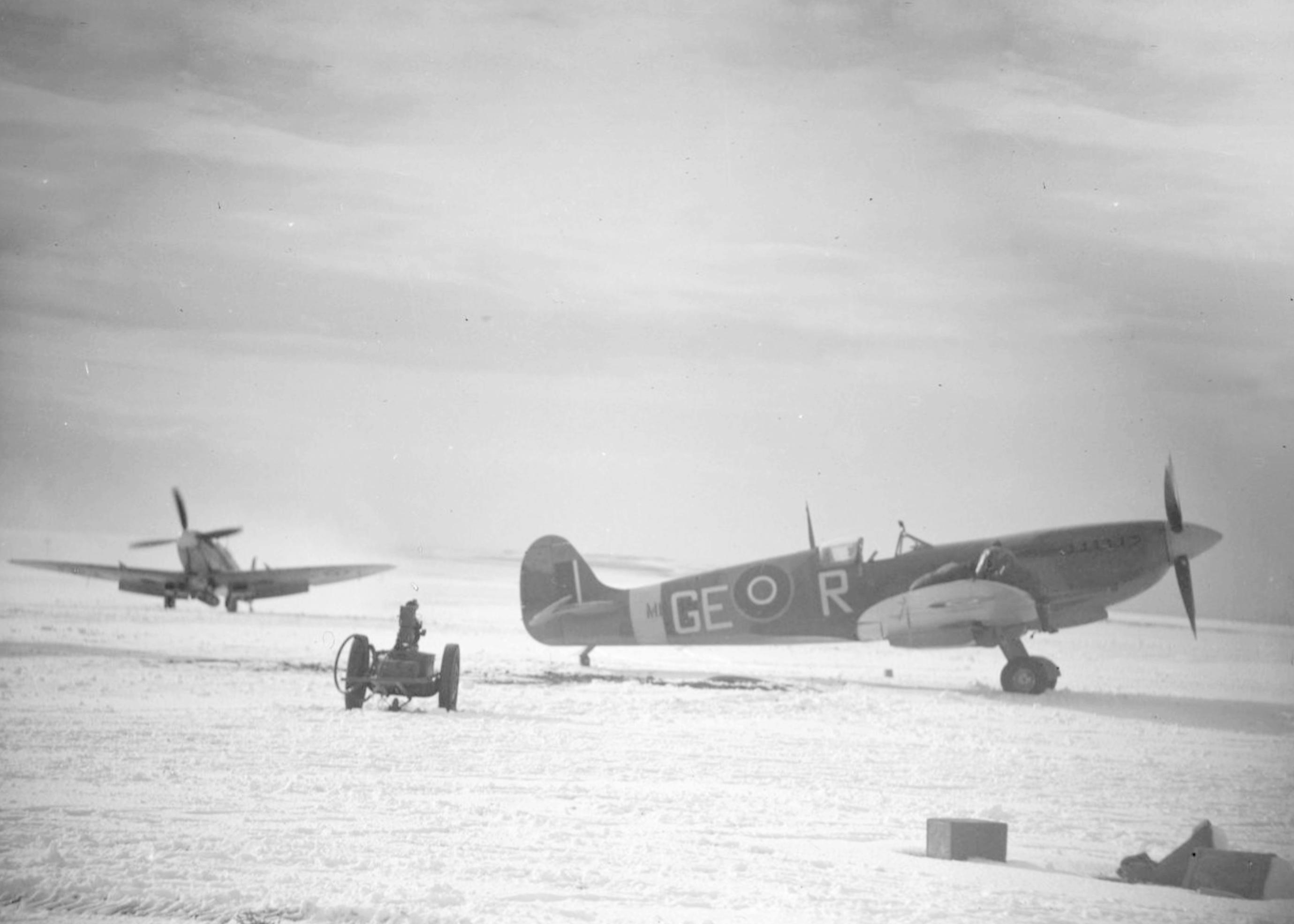 Spitfire IXc RAF 349Sqn GER at Friston Sussex IWM CH12434
