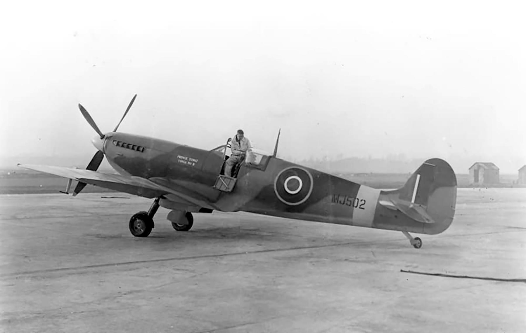 Spitfire LFIX RAF MJ502 named Prince Tungi Tonga II served with 485Sqn 349Sqn n 332Sqn 1944 web 01