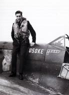 Asisbiz Aircrew RAF 349Sqn Ivan Duke Du Monceau with Spitfire MkVb MN X EN974 Aug 1942 01