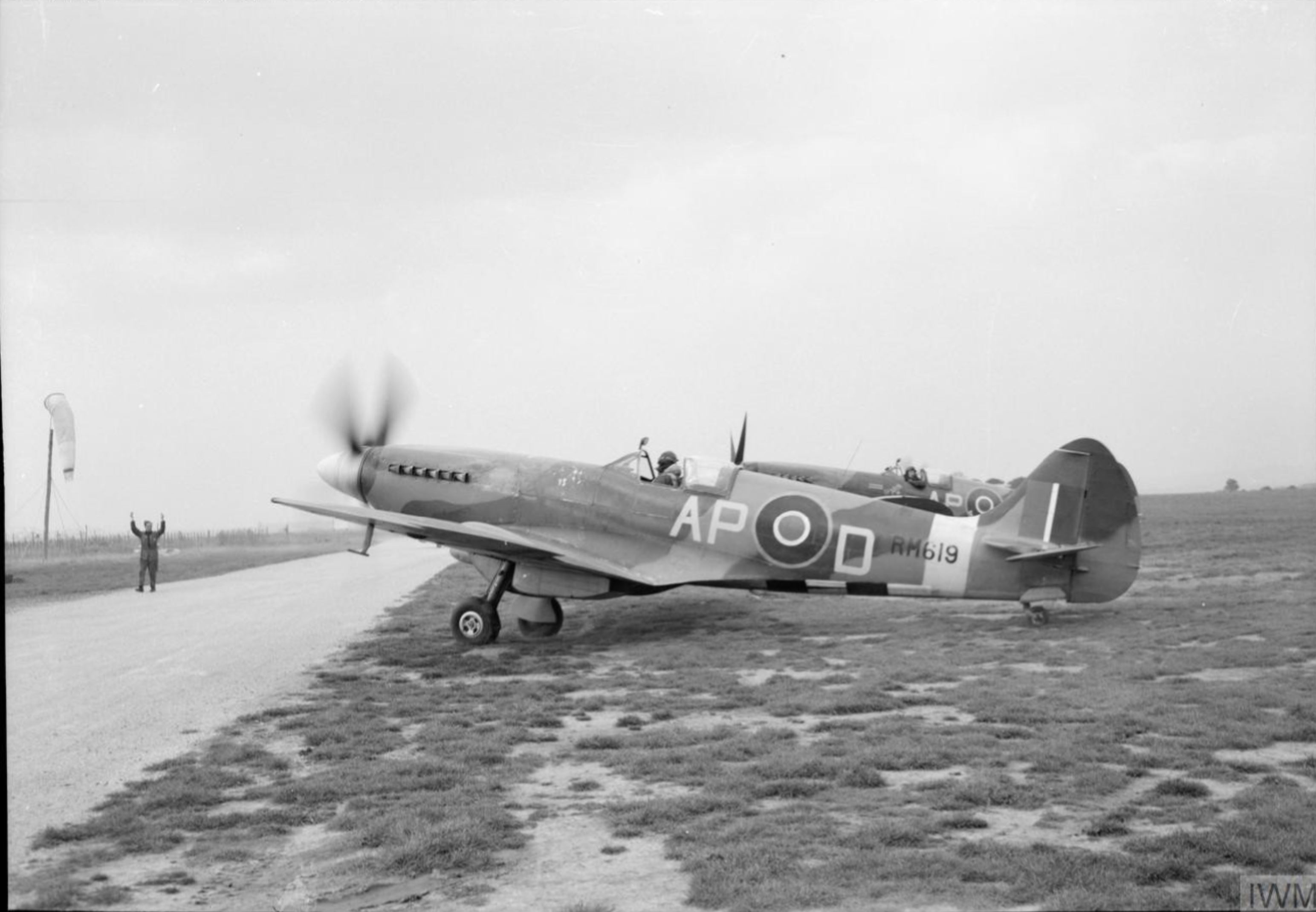 Spitfire F14 RAF 350Sqn APD RM619 ex 130qn at Lympne Kent IWM CL1353