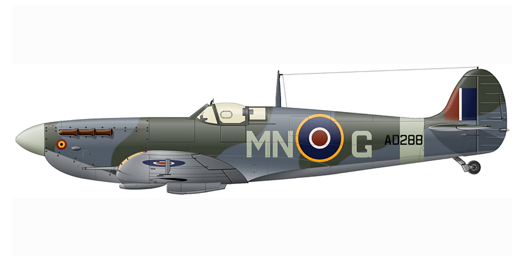 Spitfire MkVb RAF 350Sqn MNG AD288 based in Scotland Aug 1943 0A