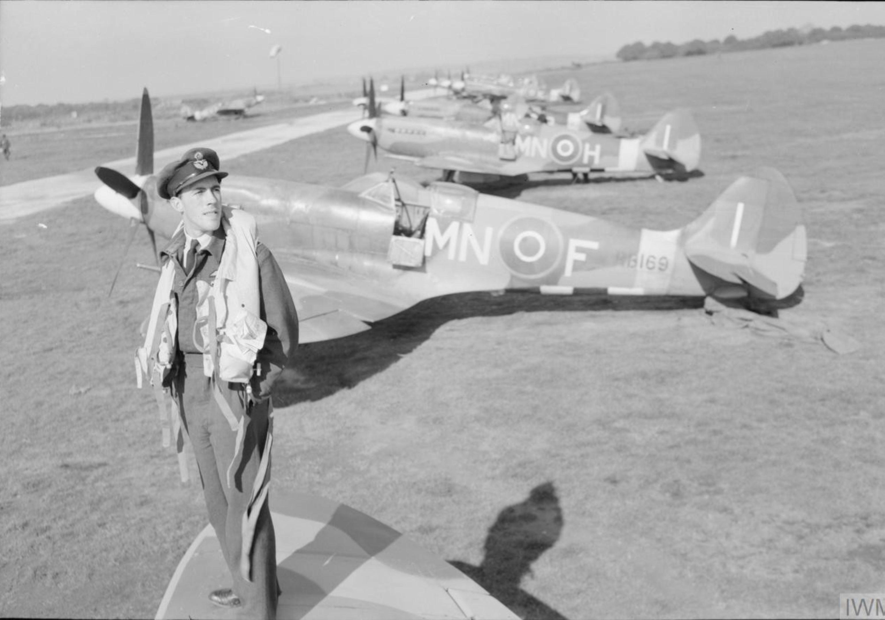 Spitfire XIVe RAF 350Sqn MNF RB169 at Lympne Kent IWM CL1364