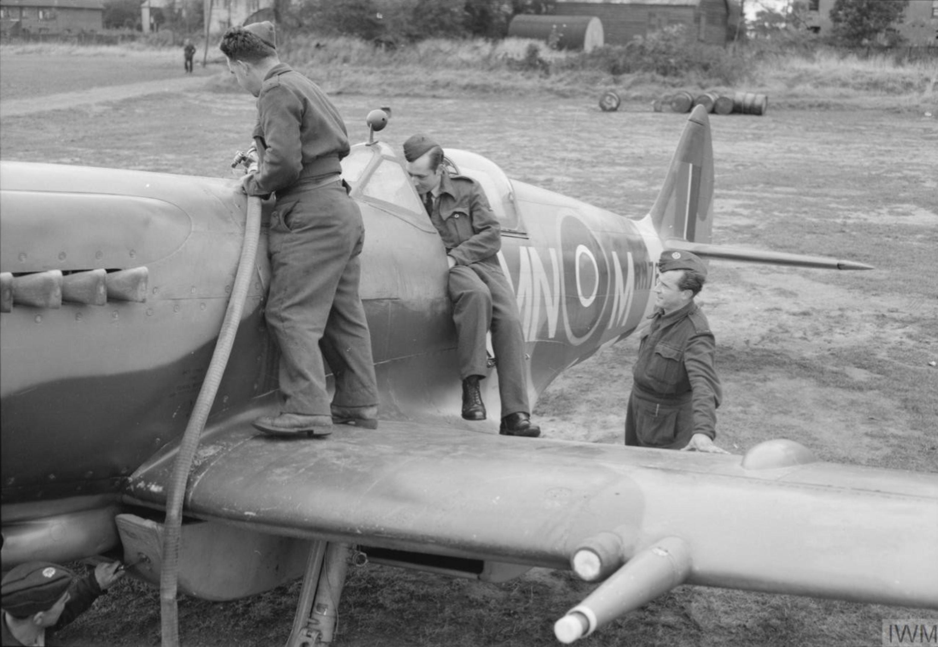 Spitfire XIVe RAF 350Sqn MNM RM764 at Lympne Kent IWM CL1360
